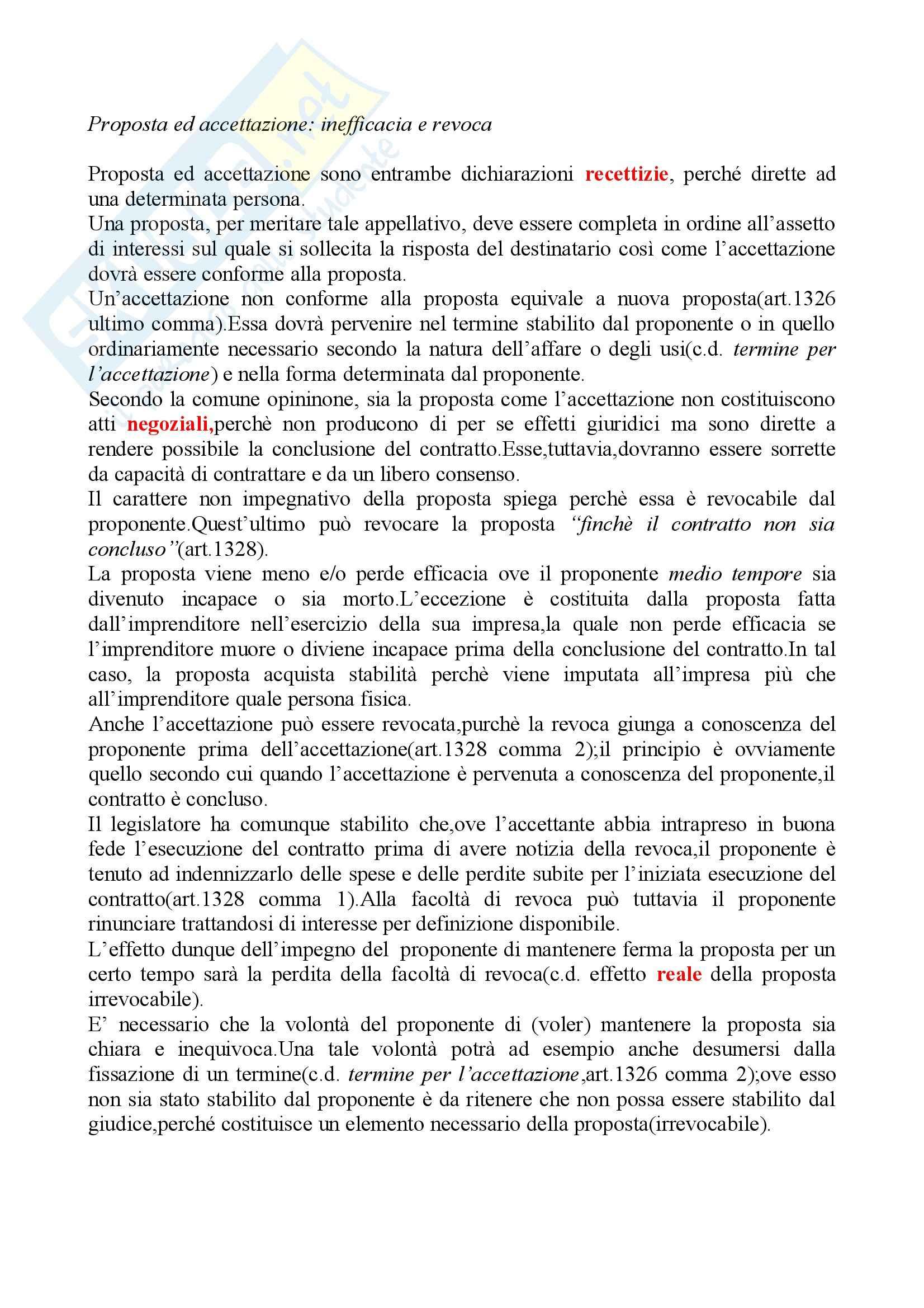 Riassunto esame Diritto delle Obbligazioni e dei Contratti, prof. Carboni, libro consigliato, Bessone Pag. 11