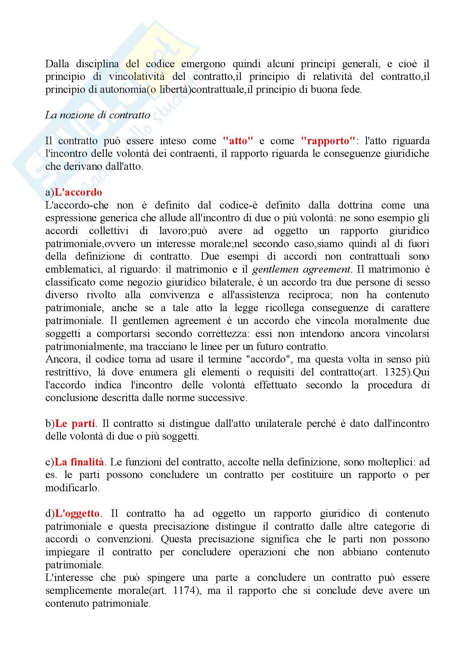 Riassunto esame Diritto delle Obbligazioni e dei Contratti, prof. Carboni, libro consigliato, Bessone Pag. 2