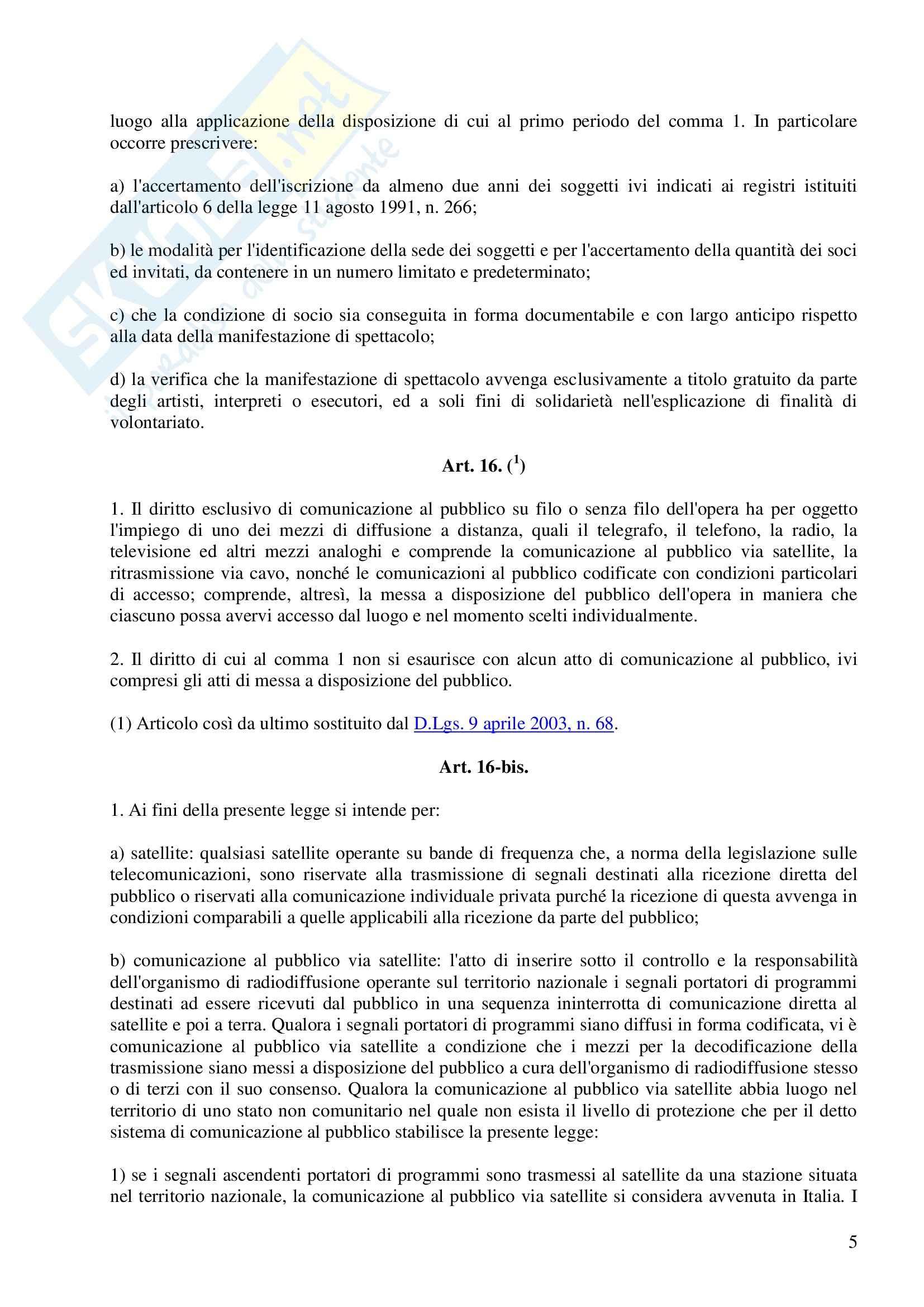 Diritto delle tecnologie informatiche - programma Pag. 6