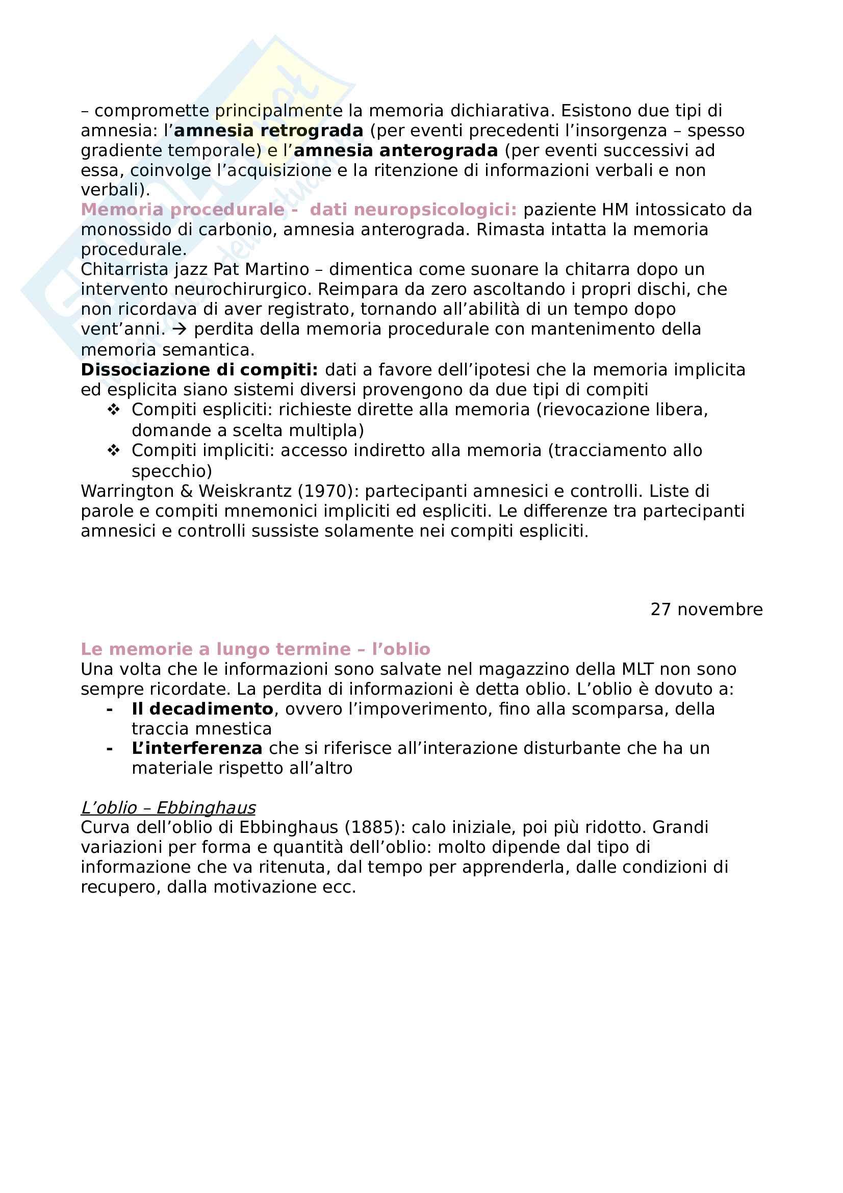 Appunti di Psicologia generale Pag. 41