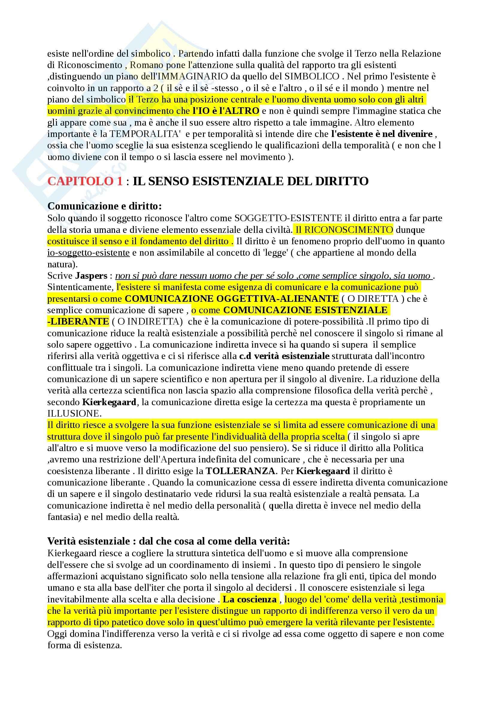 Riassunto esame Filosofia del diritto, prof. Romano, libro consigliato Filosofia e filosofie del diritto Pag. 2