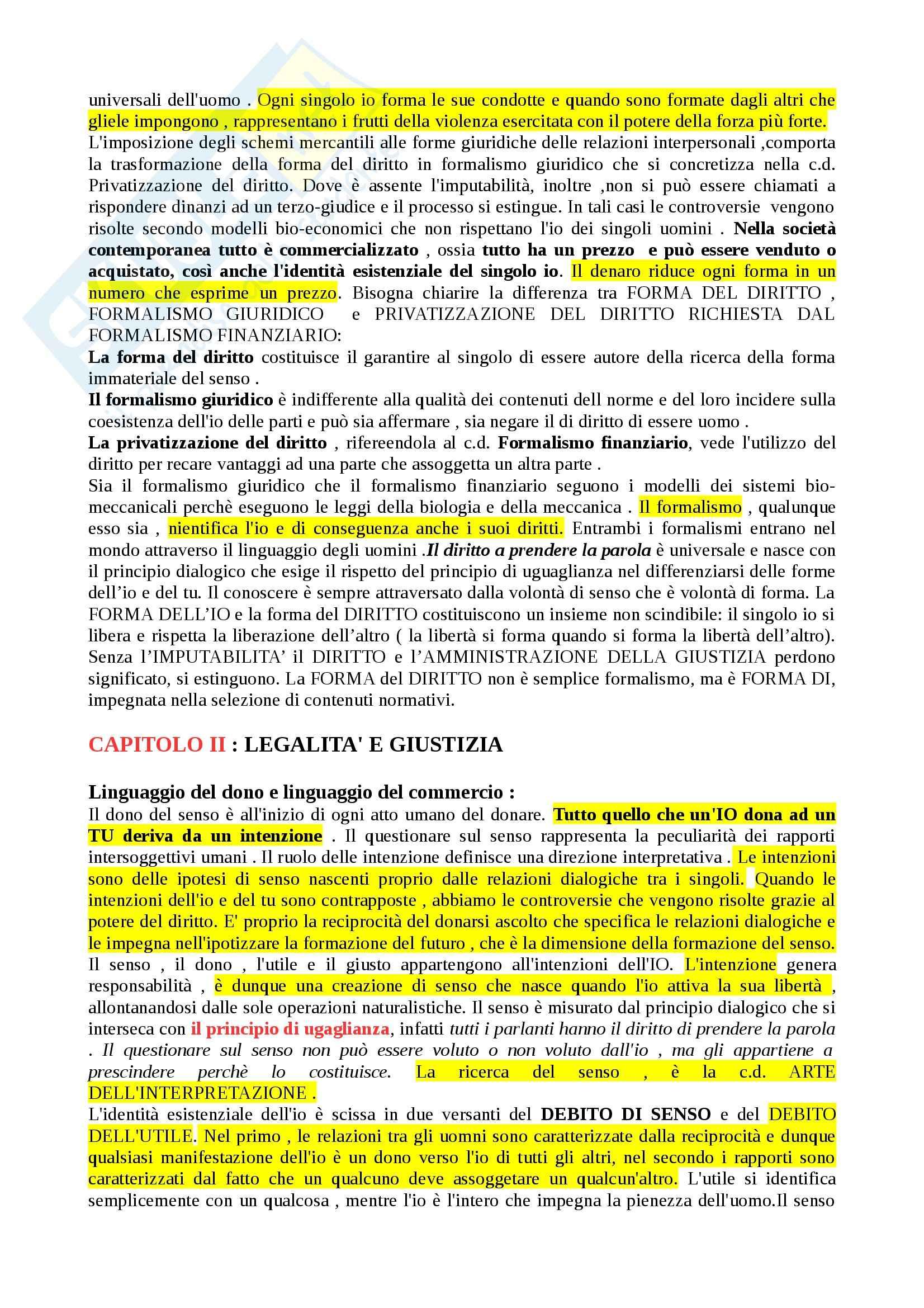 Riassunto esame Filosofia del diritto, prof. Romano, libro consigliato Filosofia e filosofie del diritto Pag. 21