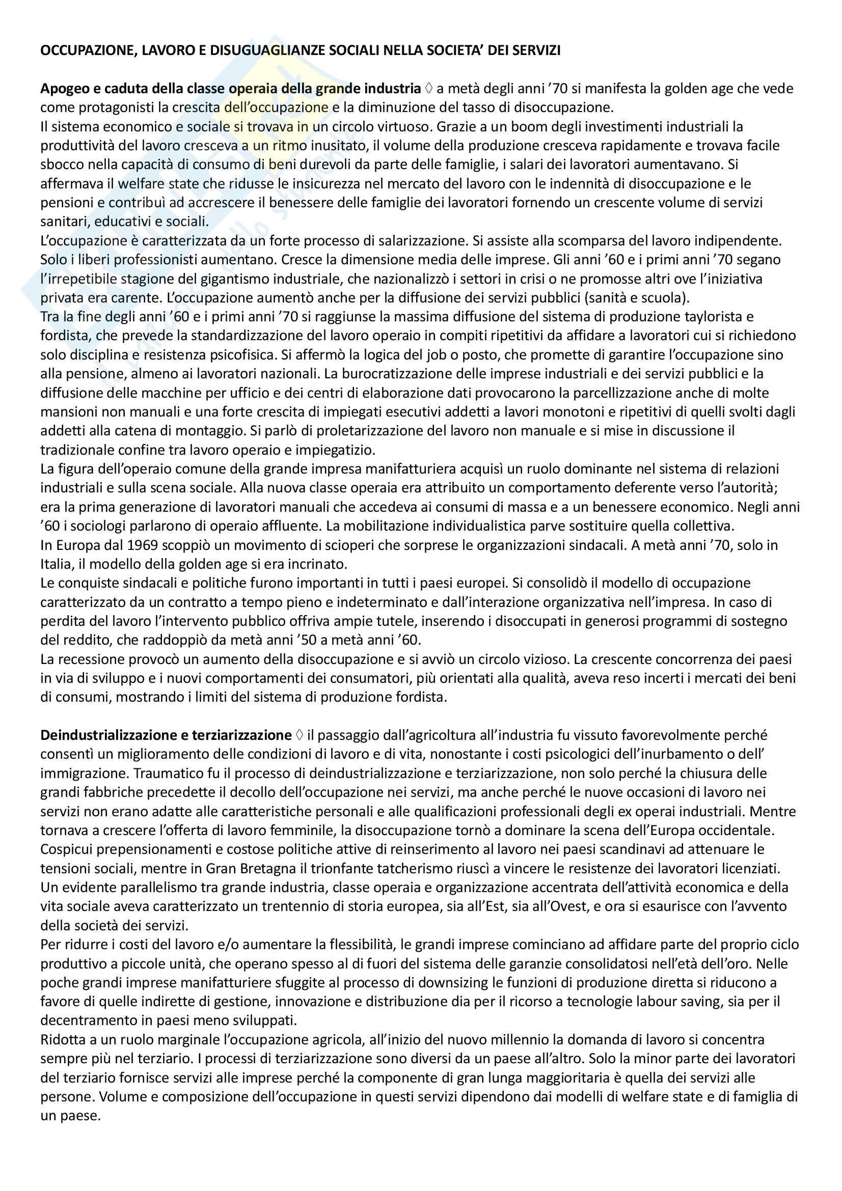 Riassunto esame Sistemi sociali, prof. Leonardi, libro consigliato Processi e trasformazioni sociali, Sciolla