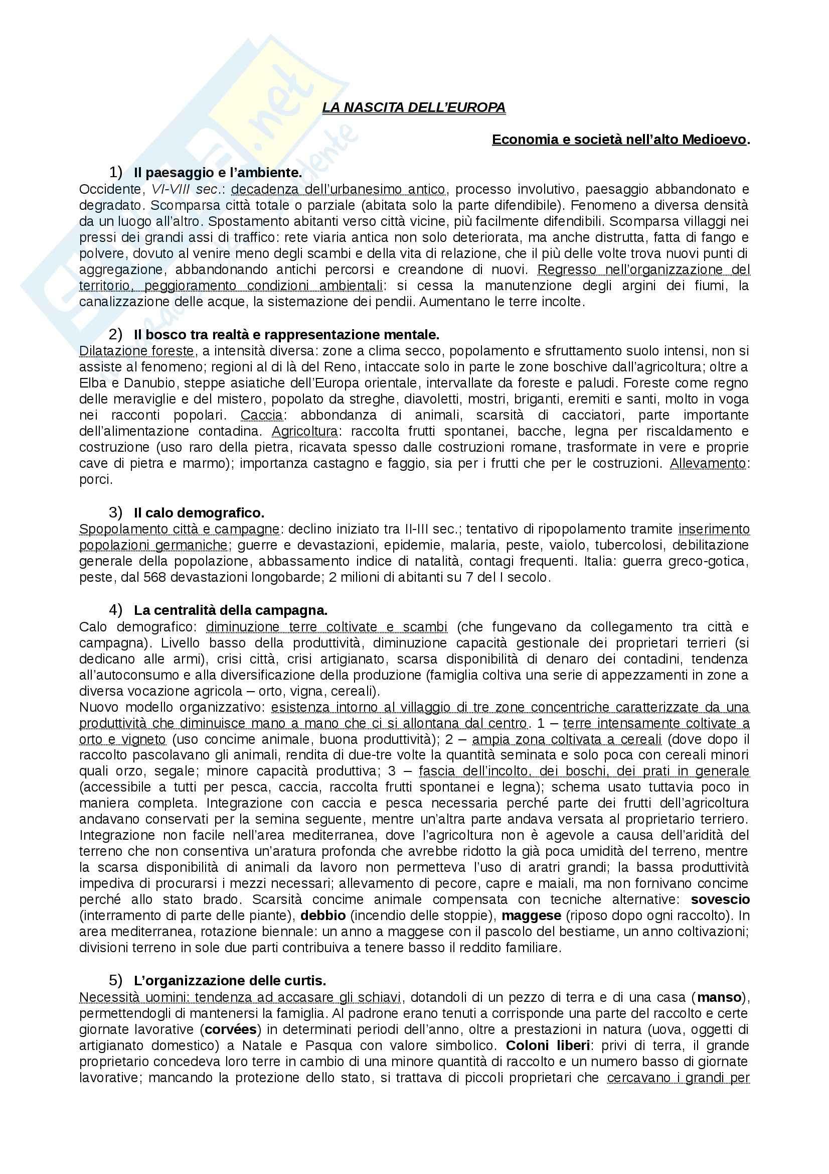 Riassunto esame Storia Medievale, prof. Figliuolo, libro consigliato Medioevo, Vitolo - seconda parte