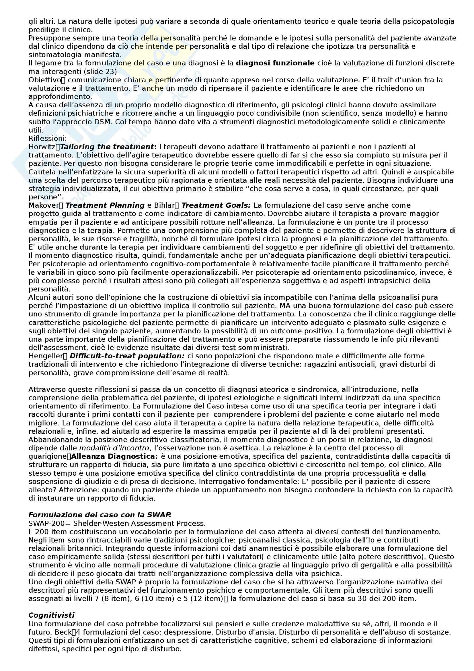 Riassunto esame Strumenti di Valutazione della Personalità, prof. Parolin, libro consigliato Dazzi Pag. 6