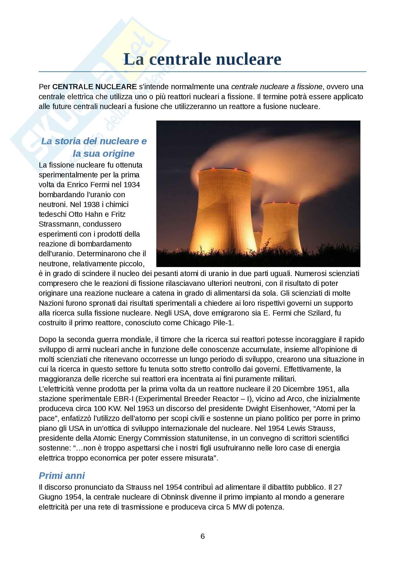 Tecnologia dei cicli produttivi - energia nucleare Pag. 6