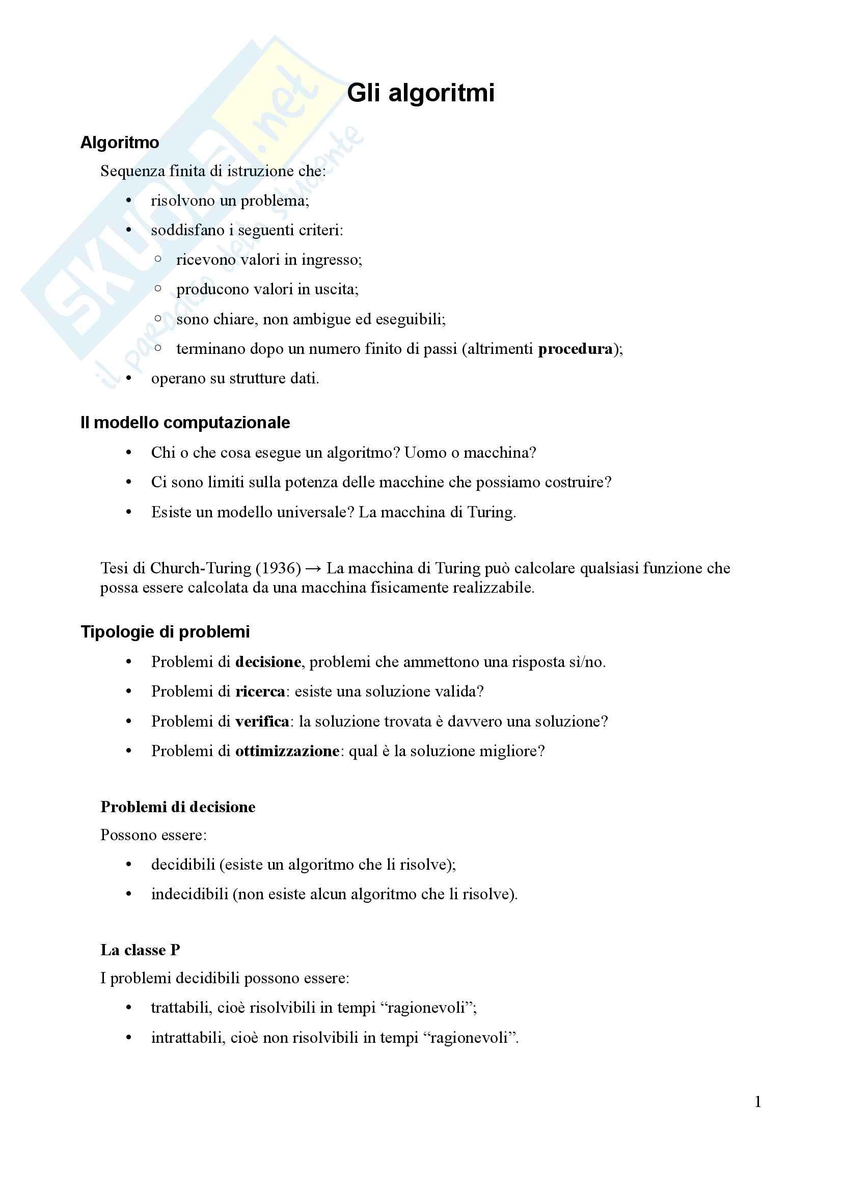 Algoritmi e Programmazione - Appunti