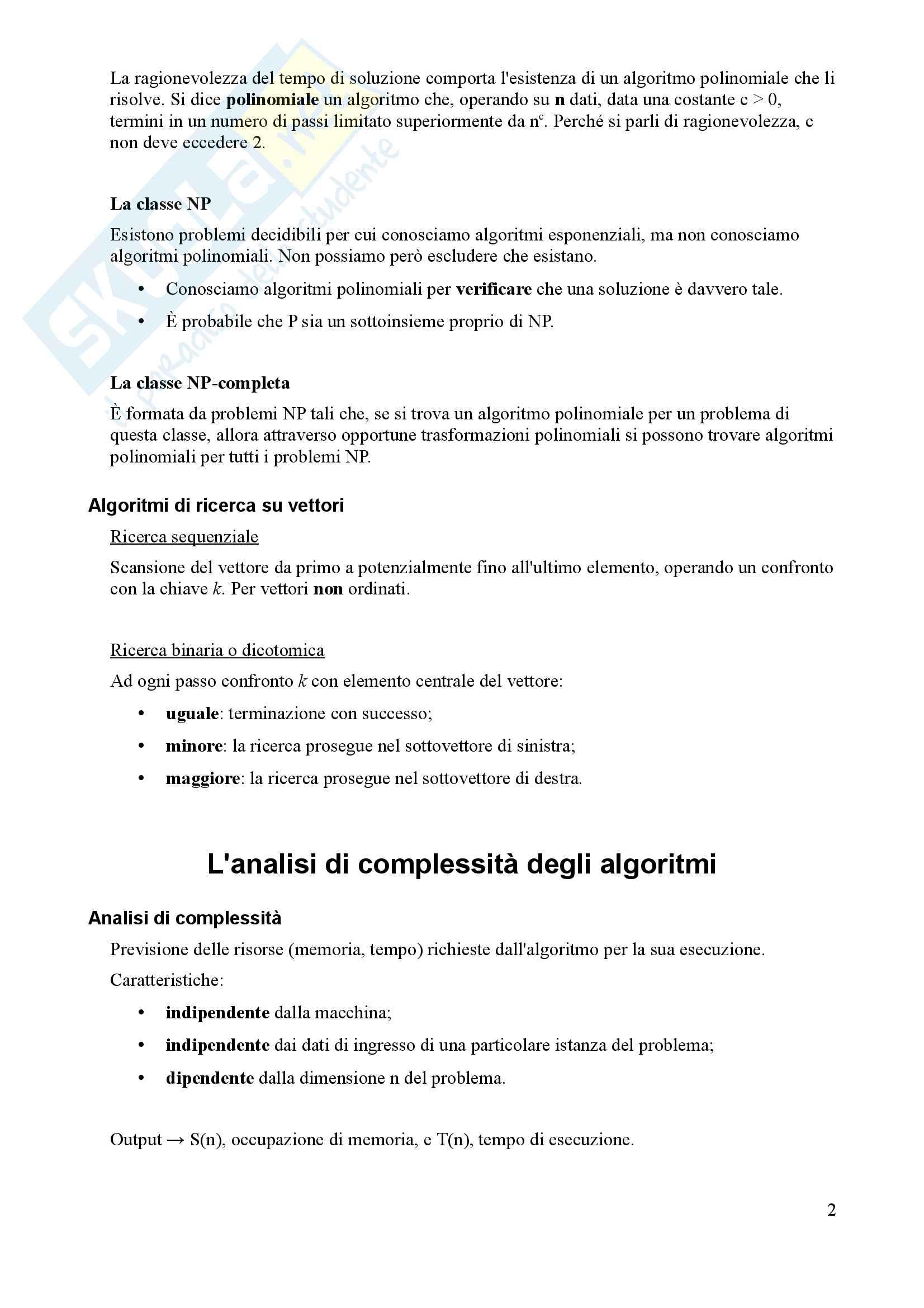 Algoritmi e Programmazione - Appunti Pag. 2