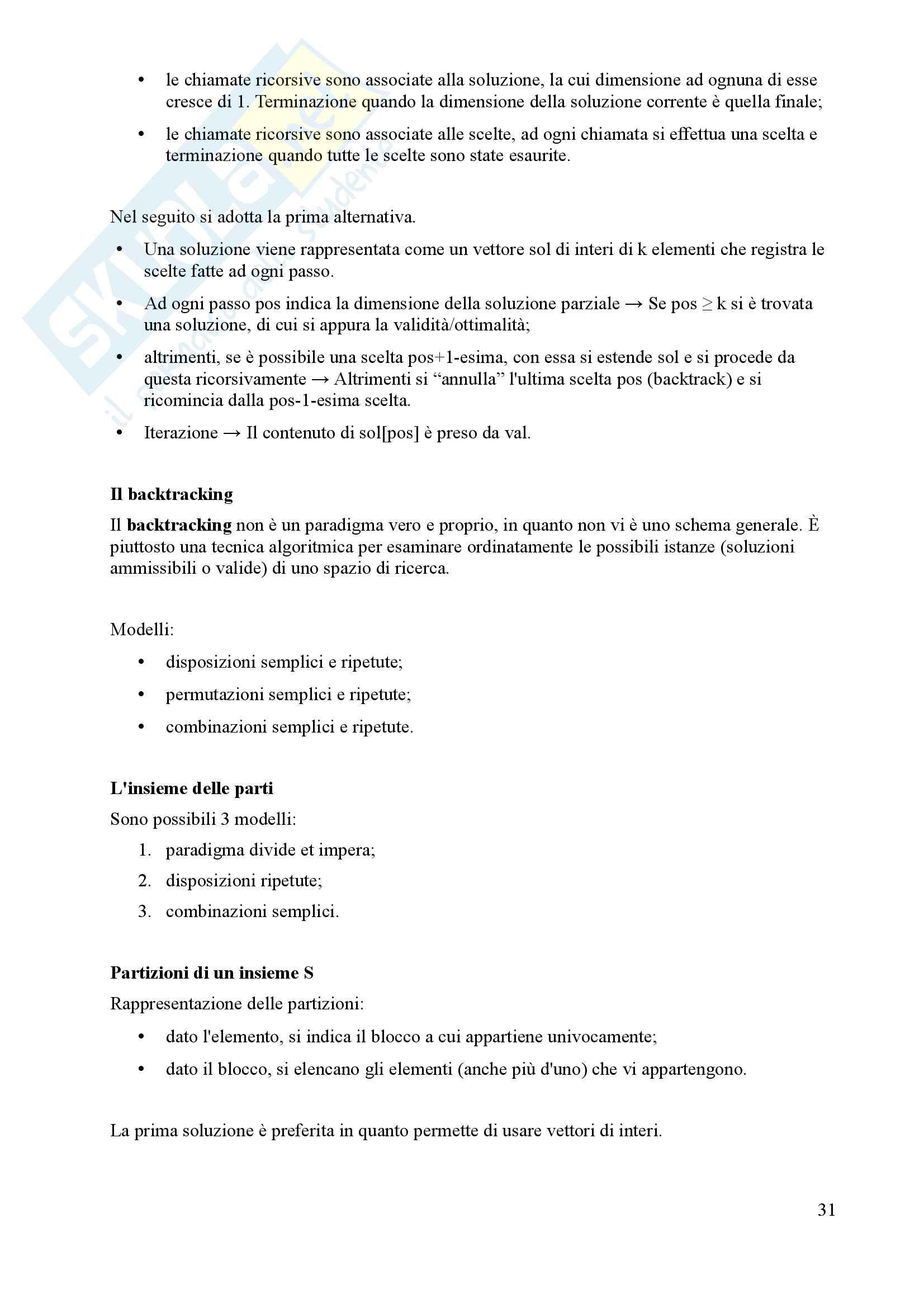 Algoritmi e Programmazione - Appunti Pag. 31