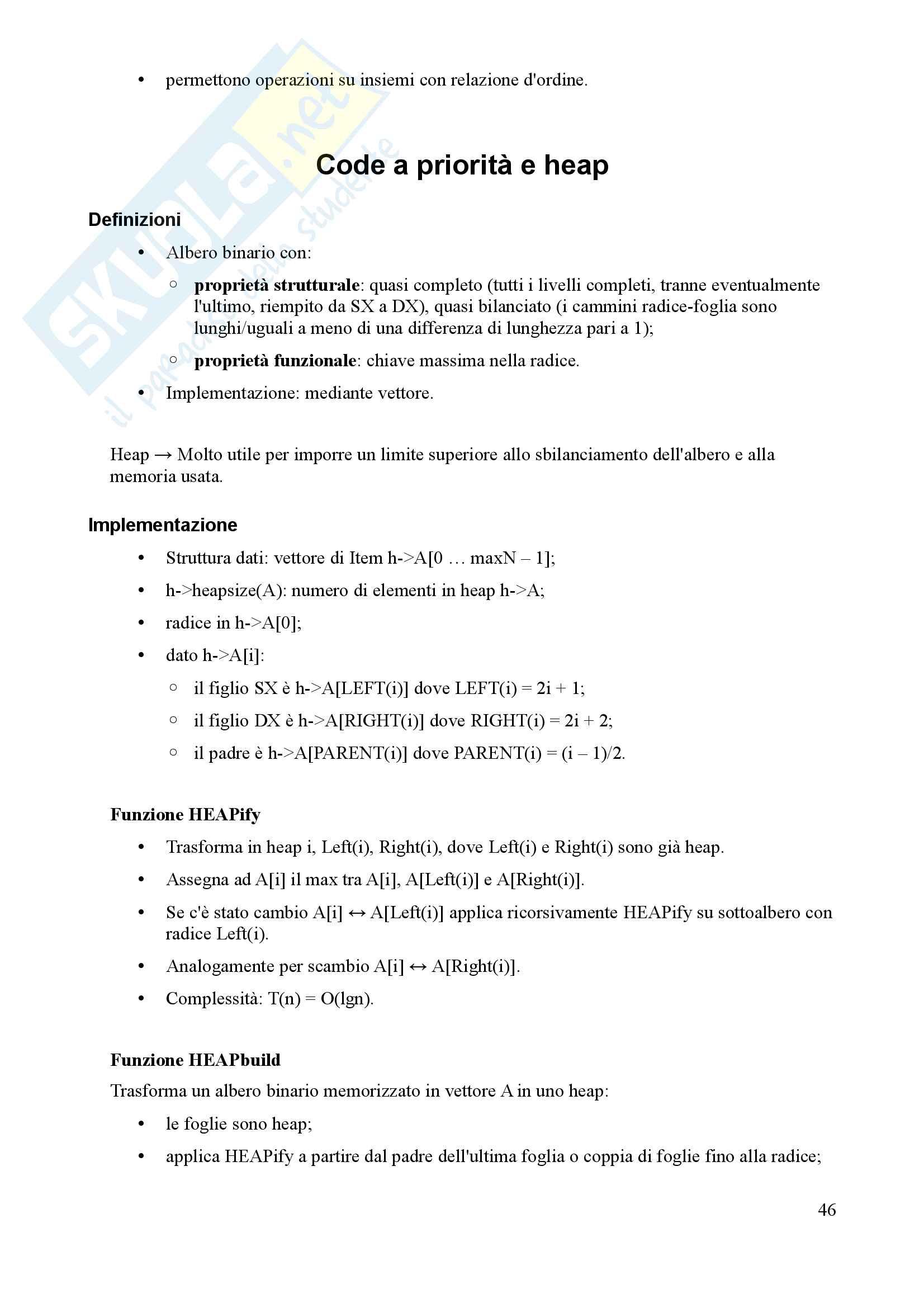 Algoritmi e Programmazione - Appunti Pag. 46