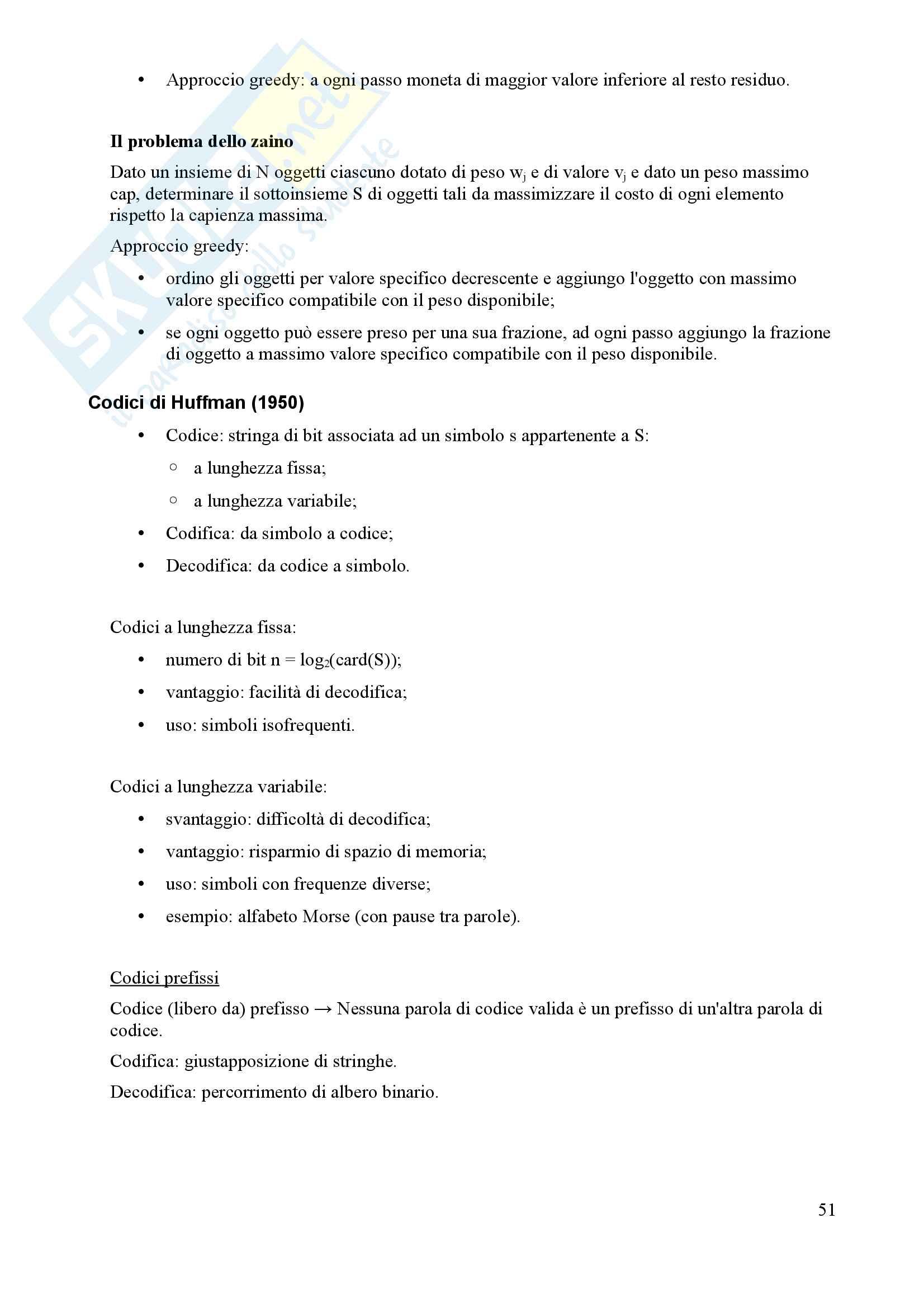 Algoritmi e Programmazione - Appunti Pag. 51