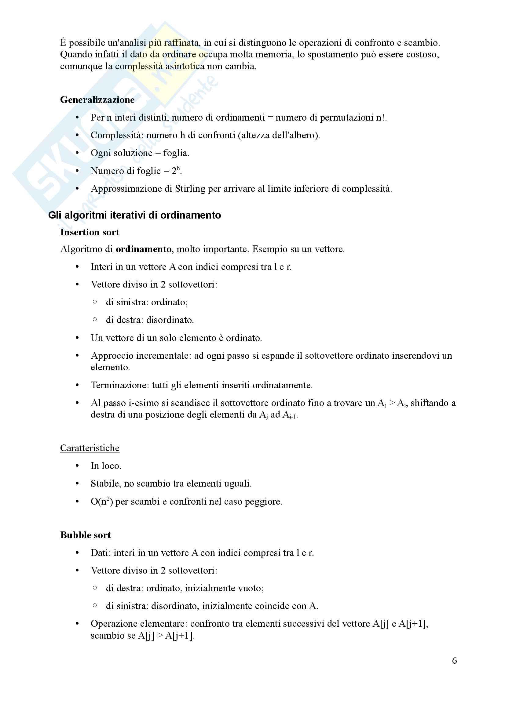 Algoritmi e Programmazione - Appunti Pag. 6