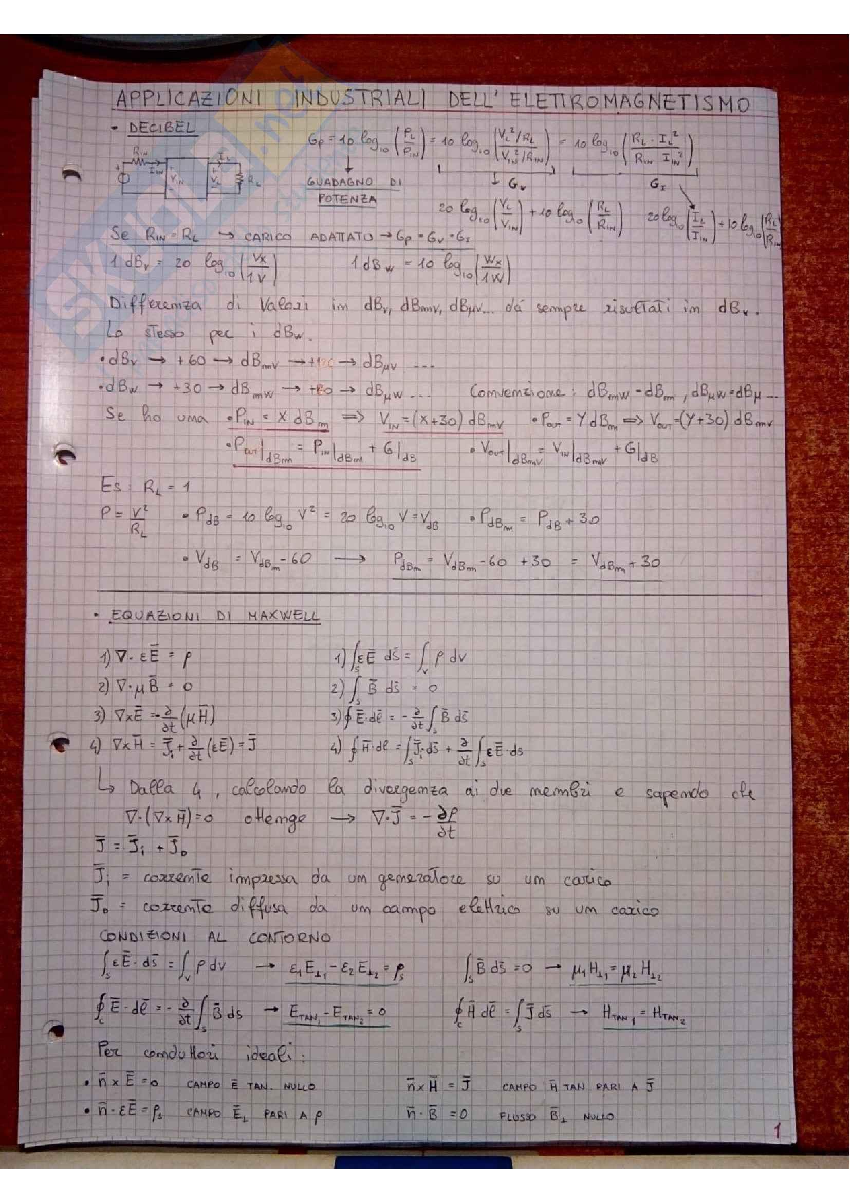 Applicazioni Industriali dell' Elettromagnetismo - Teoria