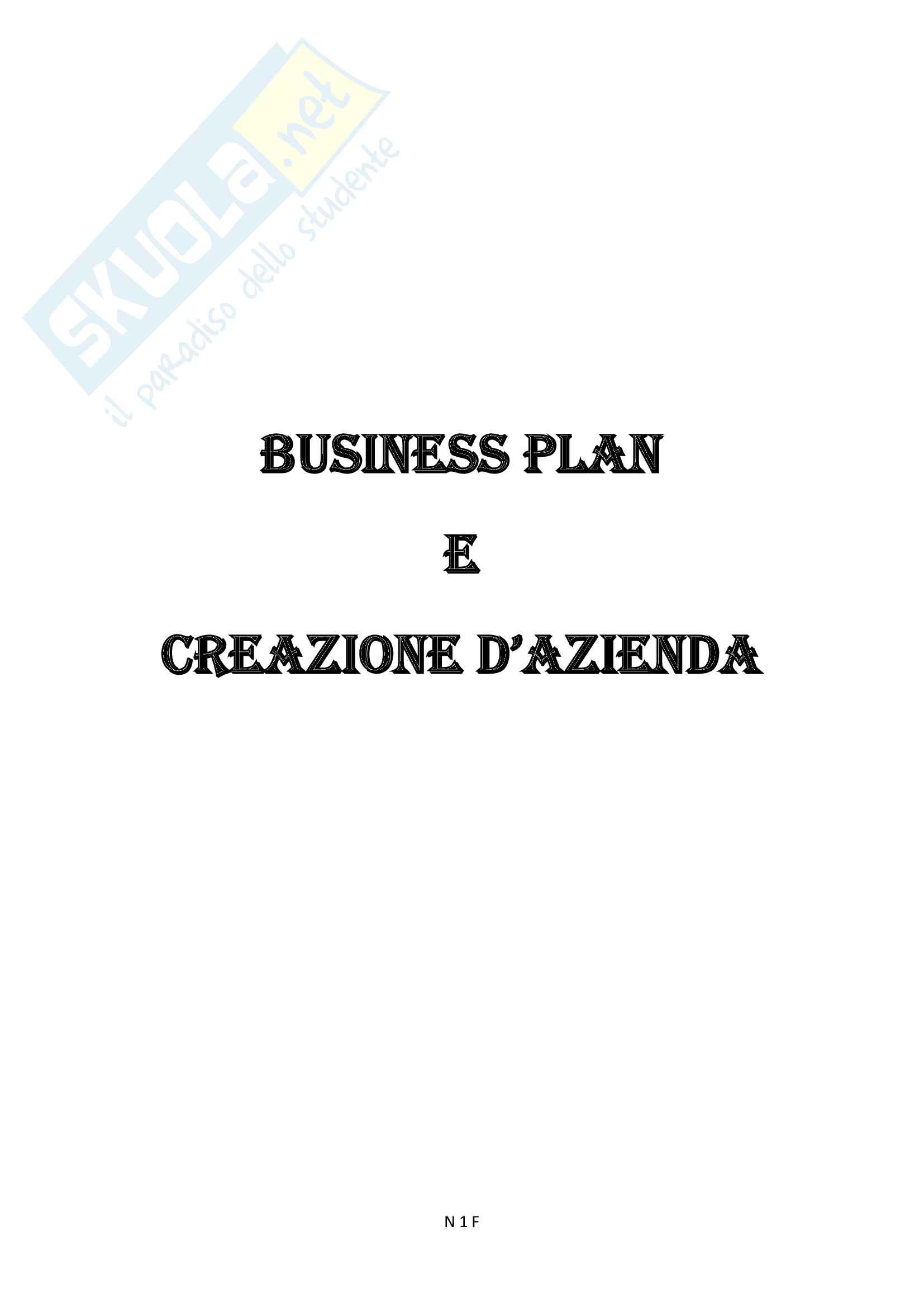 Business Plan e Creazione d'Azienda Completo