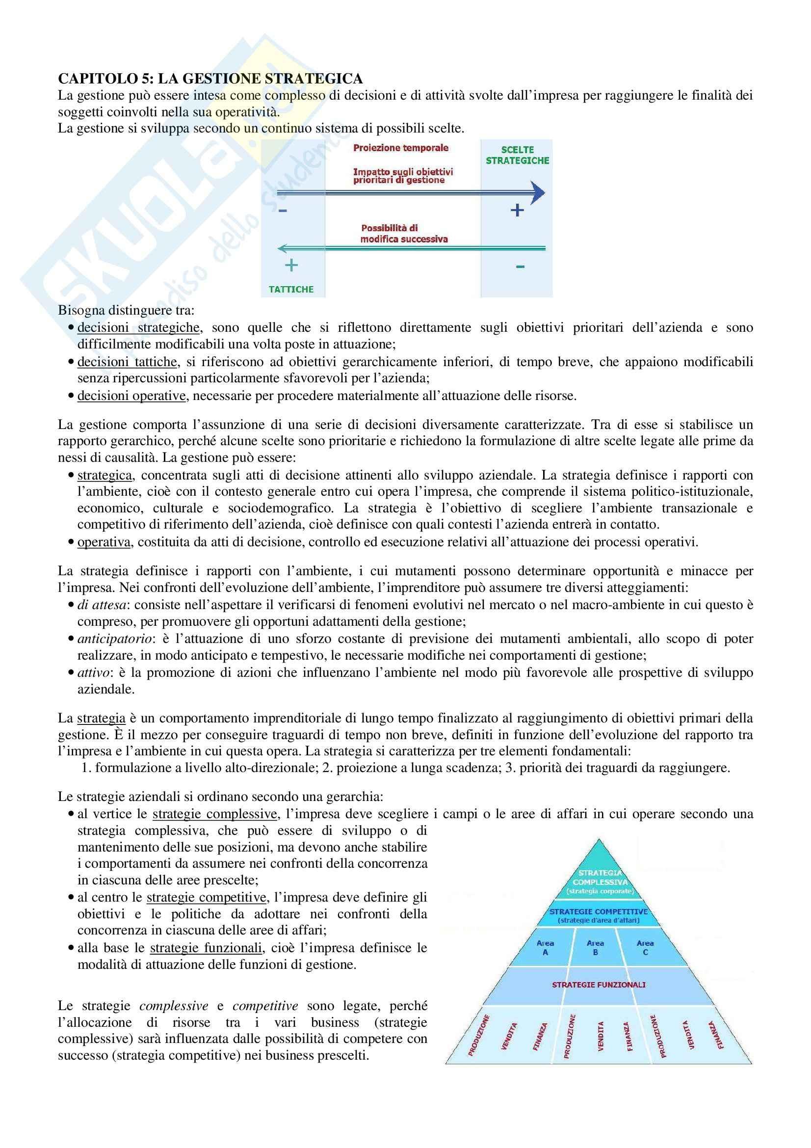 Riassunto esame Economia e Gestione delle Imprese, prof. Sorrentino, libro consigliato Elementi di Economia e Gestione delle Imprese, Sciarelli Pag. 11
