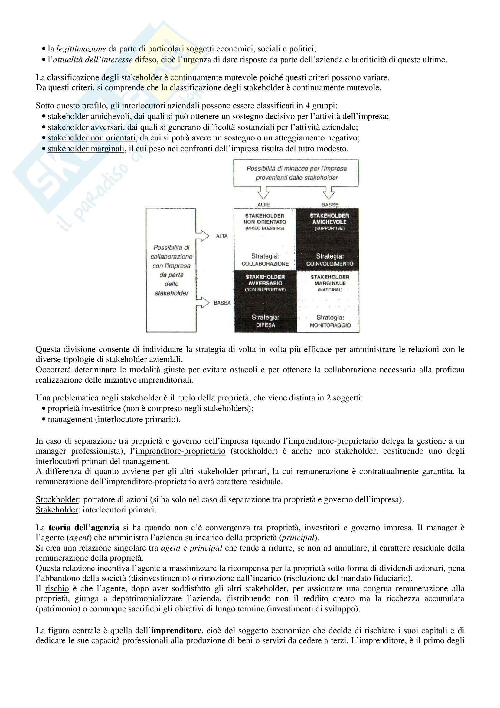 Riassunto esame Economia e Gestione delle Imprese, prof. Sorrentino, libro consigliato Elementi di Economia e Gestione delle Imprese, Sciarelli Pag. 6