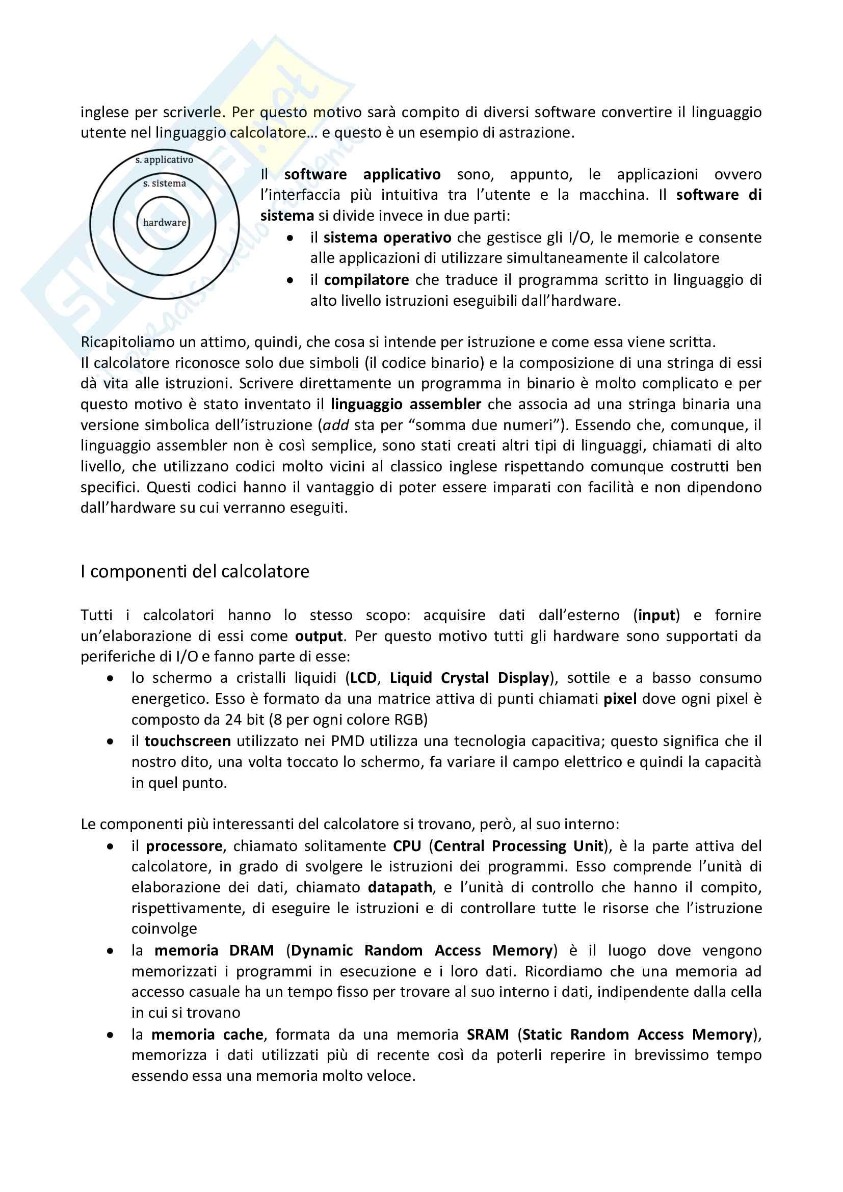 Preparazione all'esame di Calcolatori elettronici Pag. 2