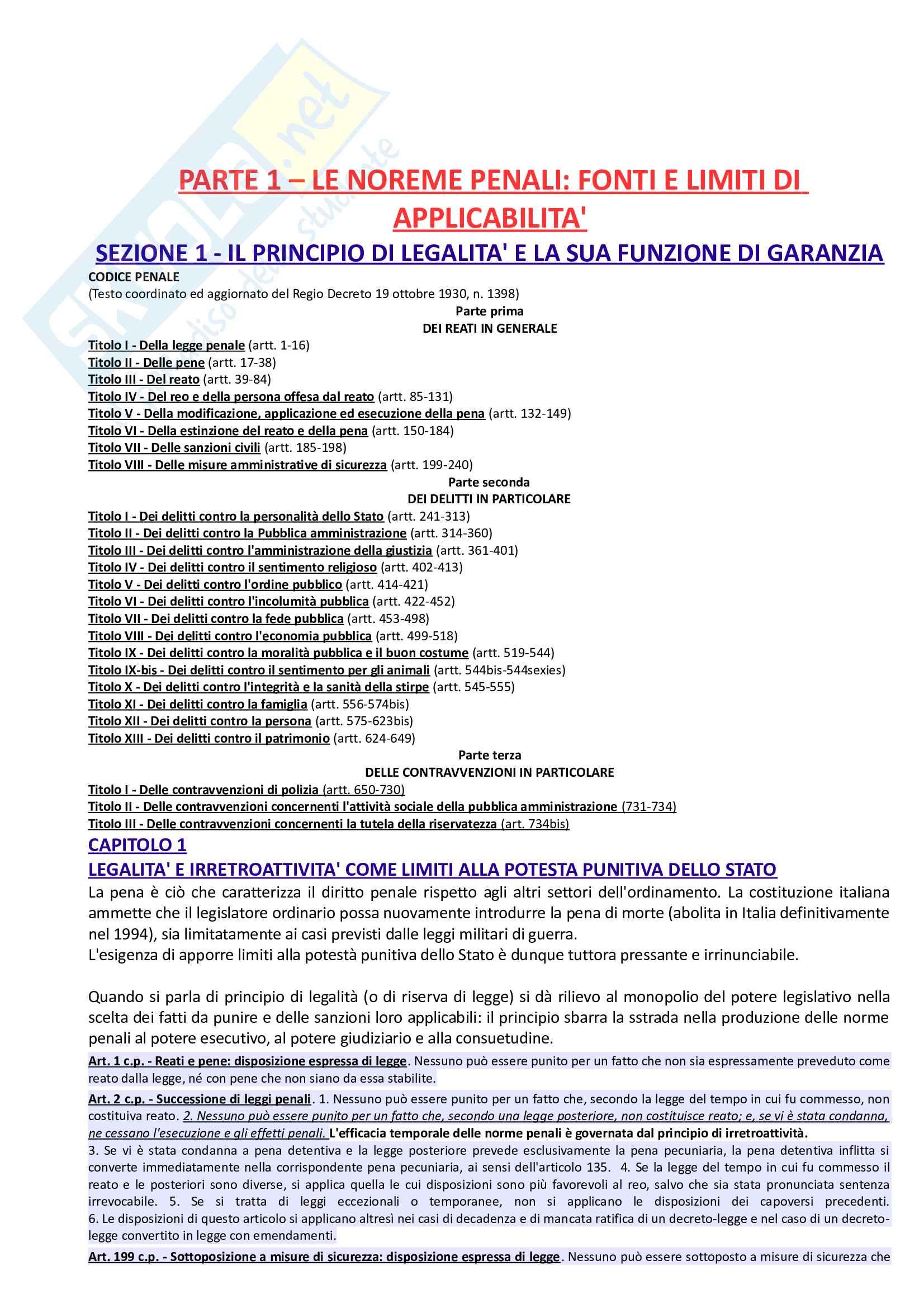 Riassunto esame Diritto Penale, prof. Paliero, libro consigliato Corso di Diritto Penale di Marinucci e Dolcini