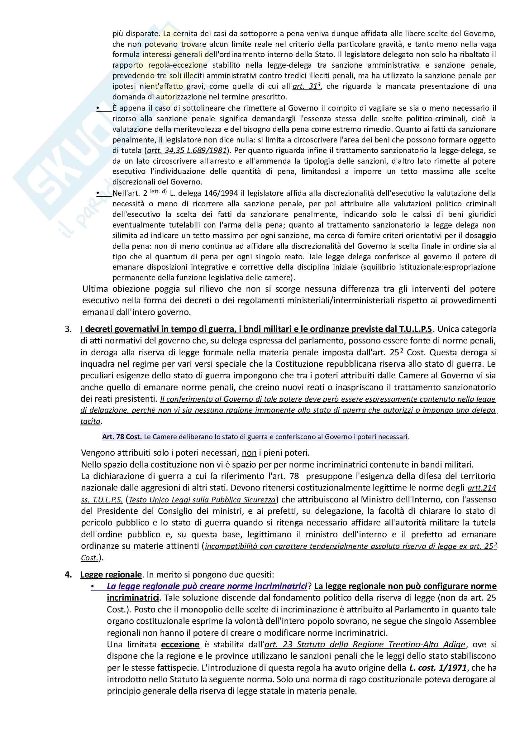 Riassunto esame Diritto Penale, prof. Paliero, libro consigliato Corso di Diritto Penale di Marinucci e Dolcini Pag. 6