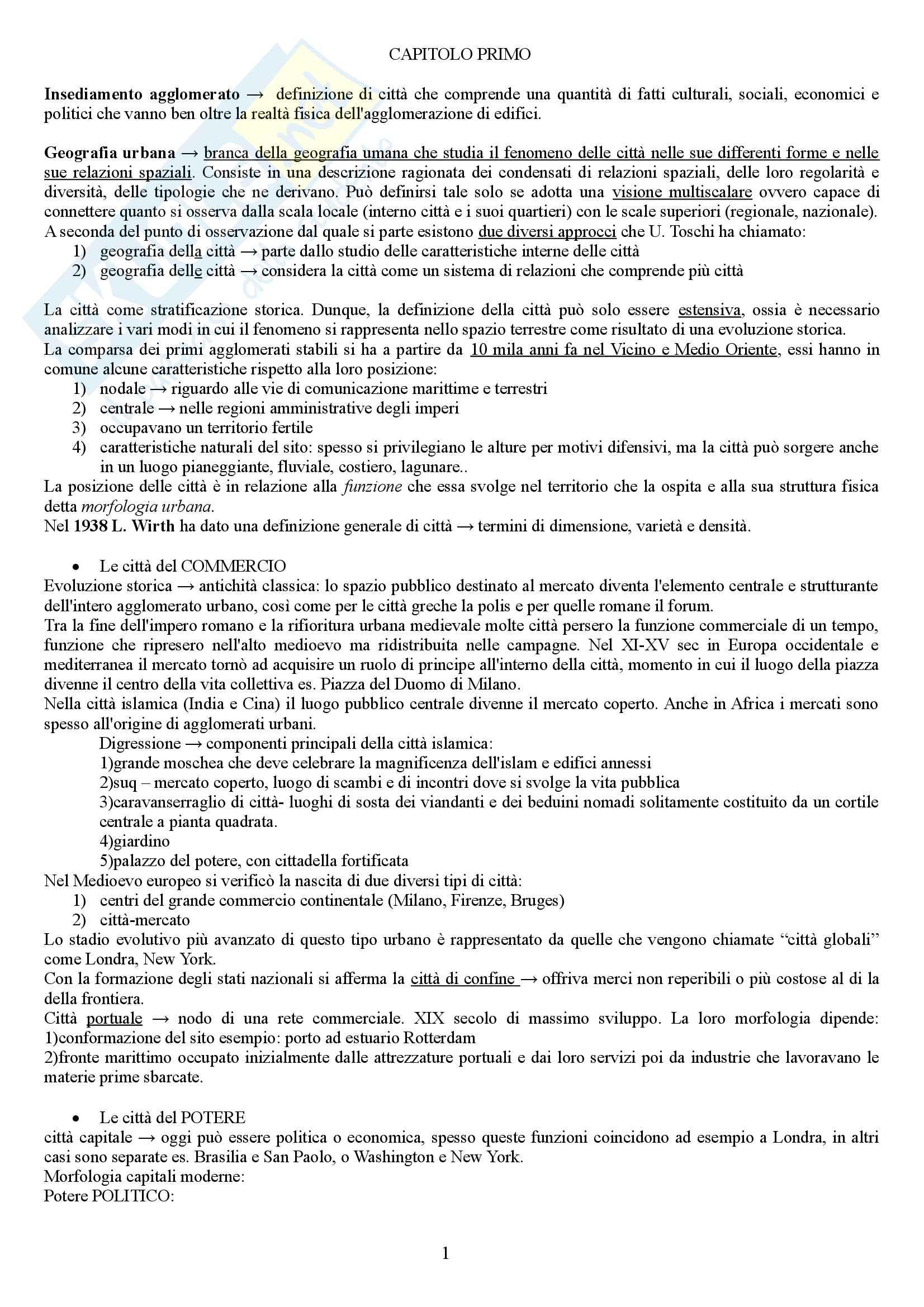 """Riassunto esame Geografia Culturale, prof. P.Macchia, libro consigliato """"Le città del mondo"""" autore Lanza/Dematteis"""