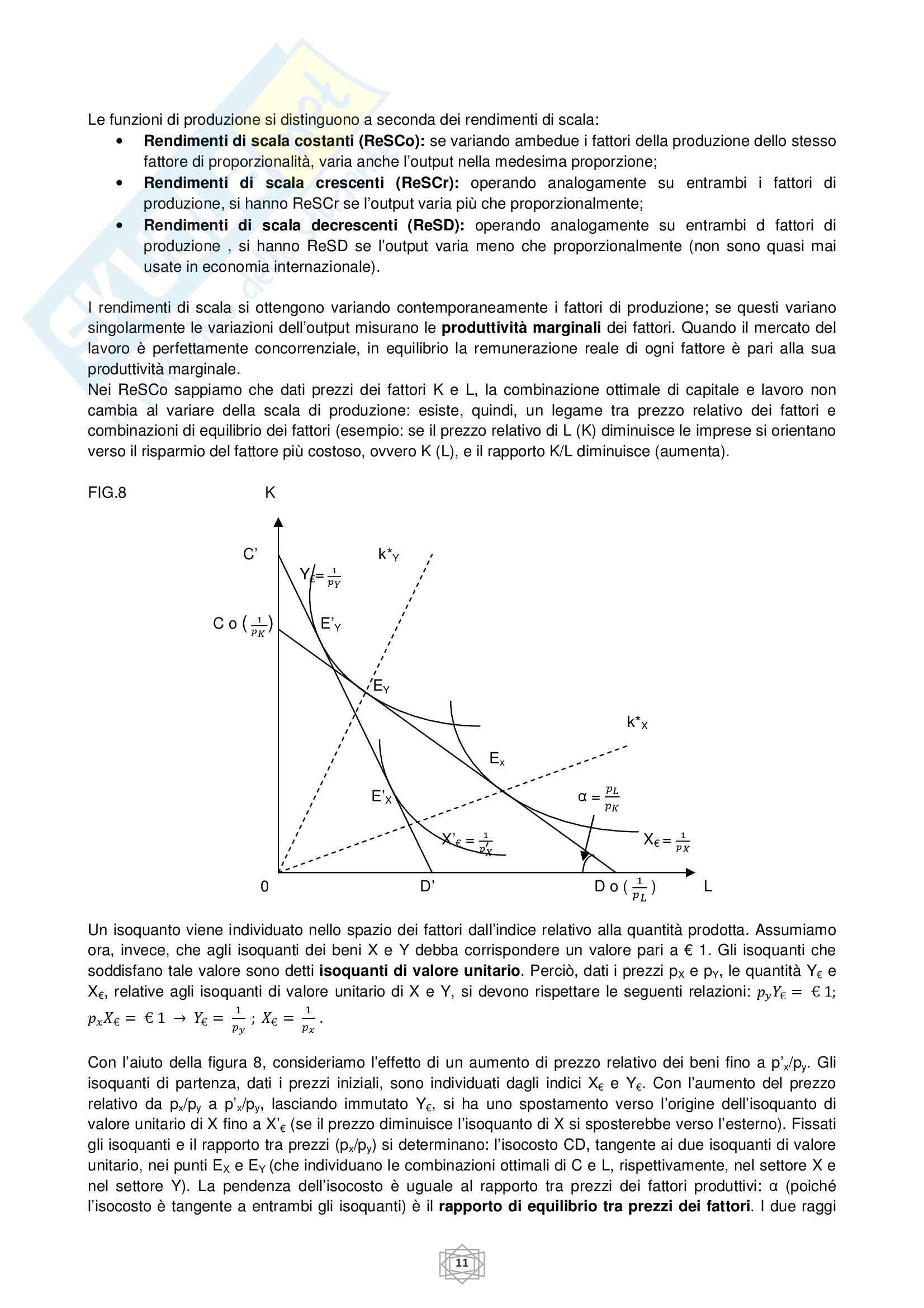 Riassunto esame Economia internazionale, prof. Atzeni, libro consigliato Economia internazionale, di De Arcangelis Pag. 11