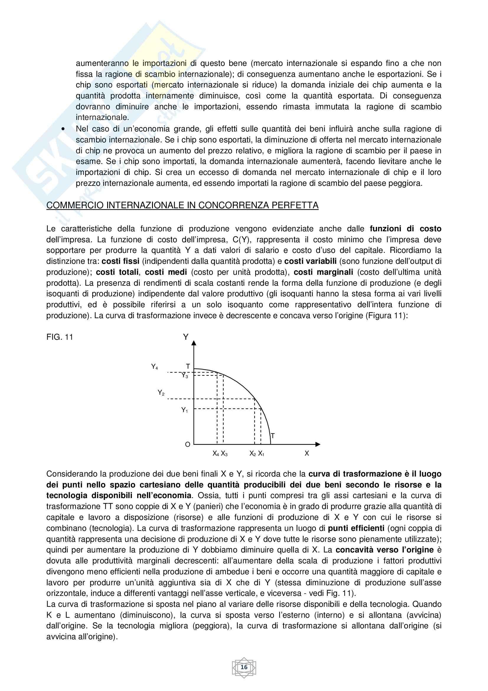 Riassunto esame Economia internazionale, prof. Atzeni, libro consigliato Economia internazionale, di De Arcangelis Pag. 16