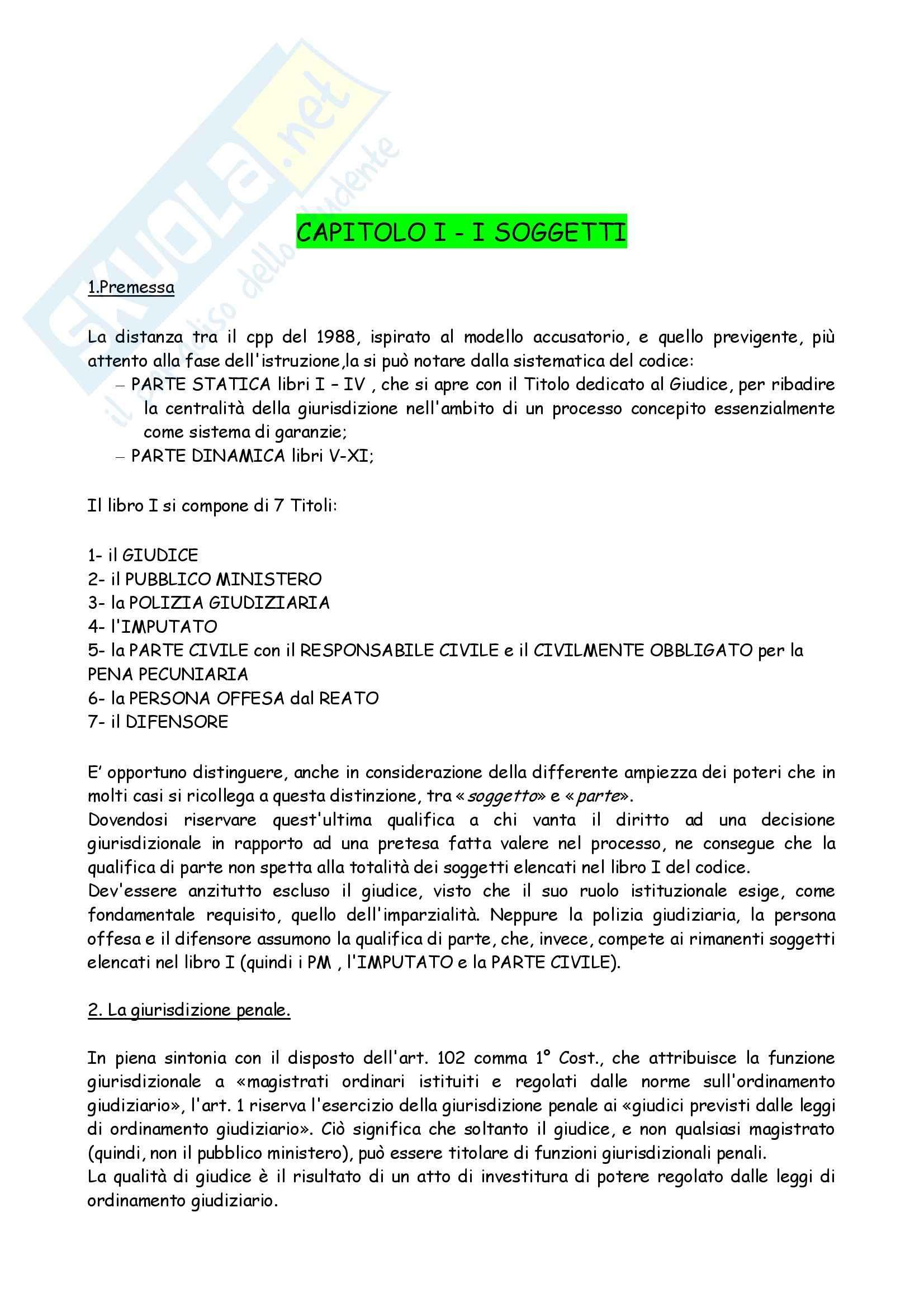 Riassunto esame Diritto, prof. Bargis, libro consigliato Compendio di Procedura Penale, Conso Grevi
