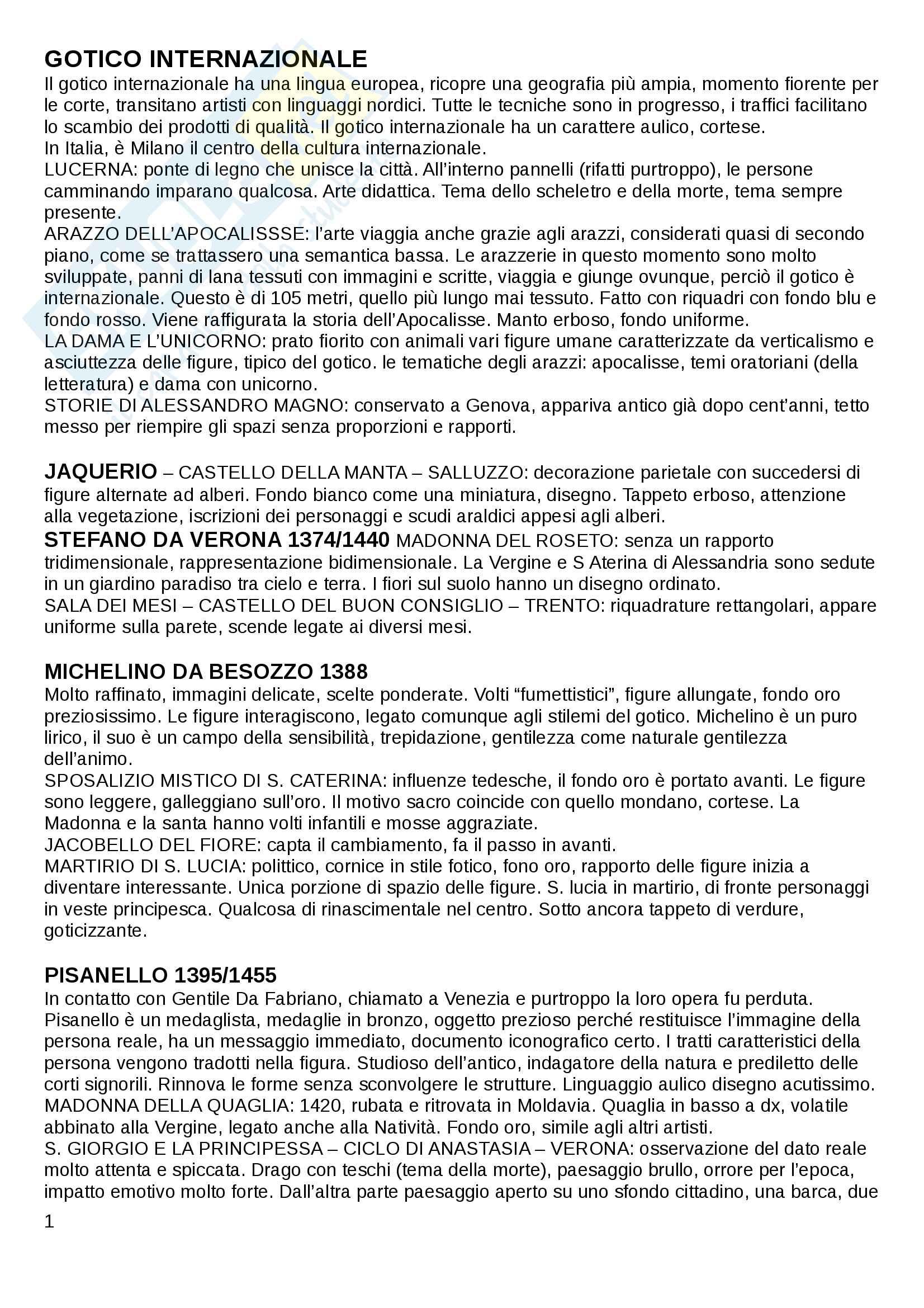 """Riassunto esame Storia dell'arte moderna, prof. Amendola. Libro consigliato """"Storia dell'Arte italiana"""", G. C. Argan"""