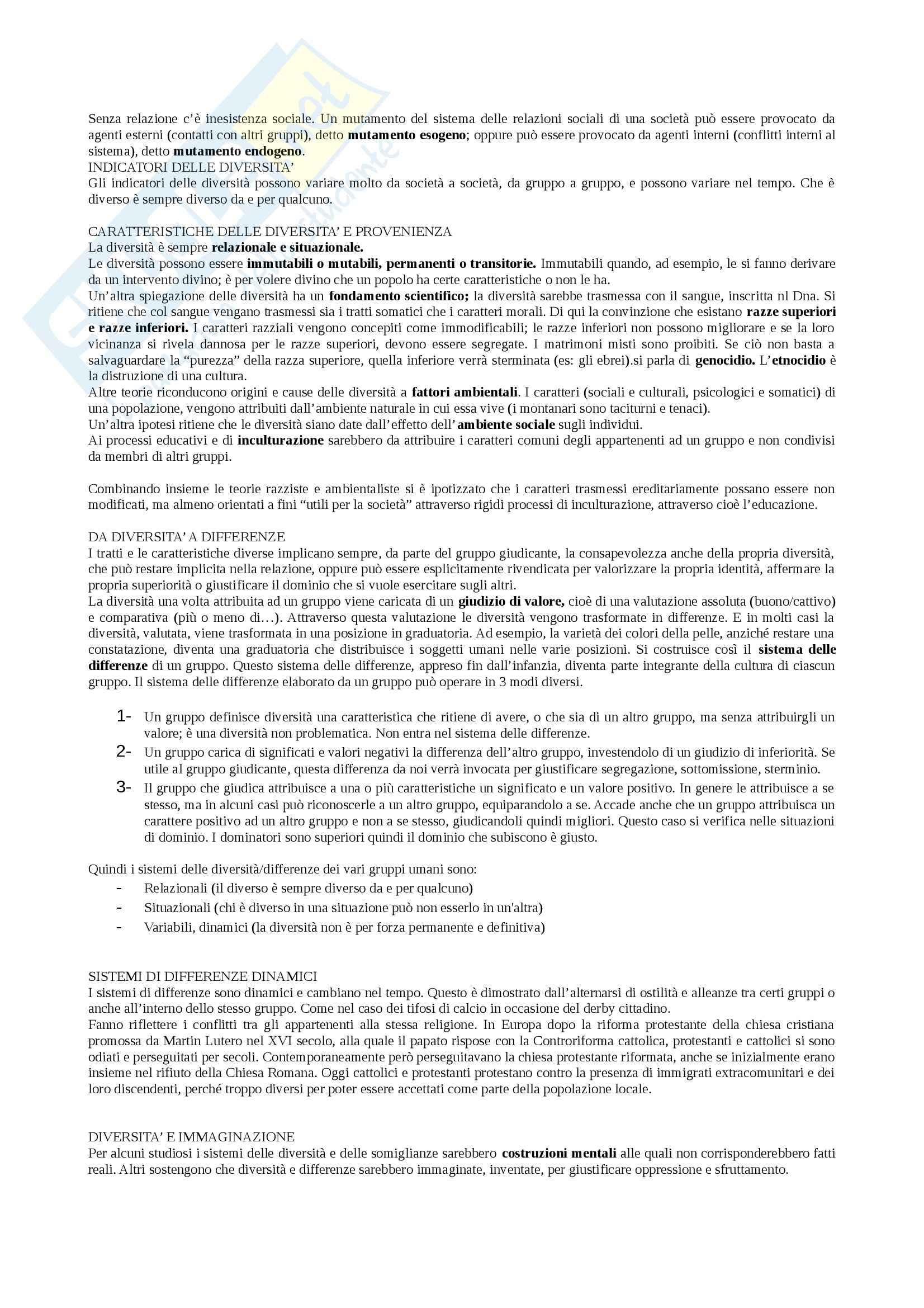 Riassunto esame Antropologia, prof. Susca, libro consigliato Antropologia culturale, Signorelli Pag. 2