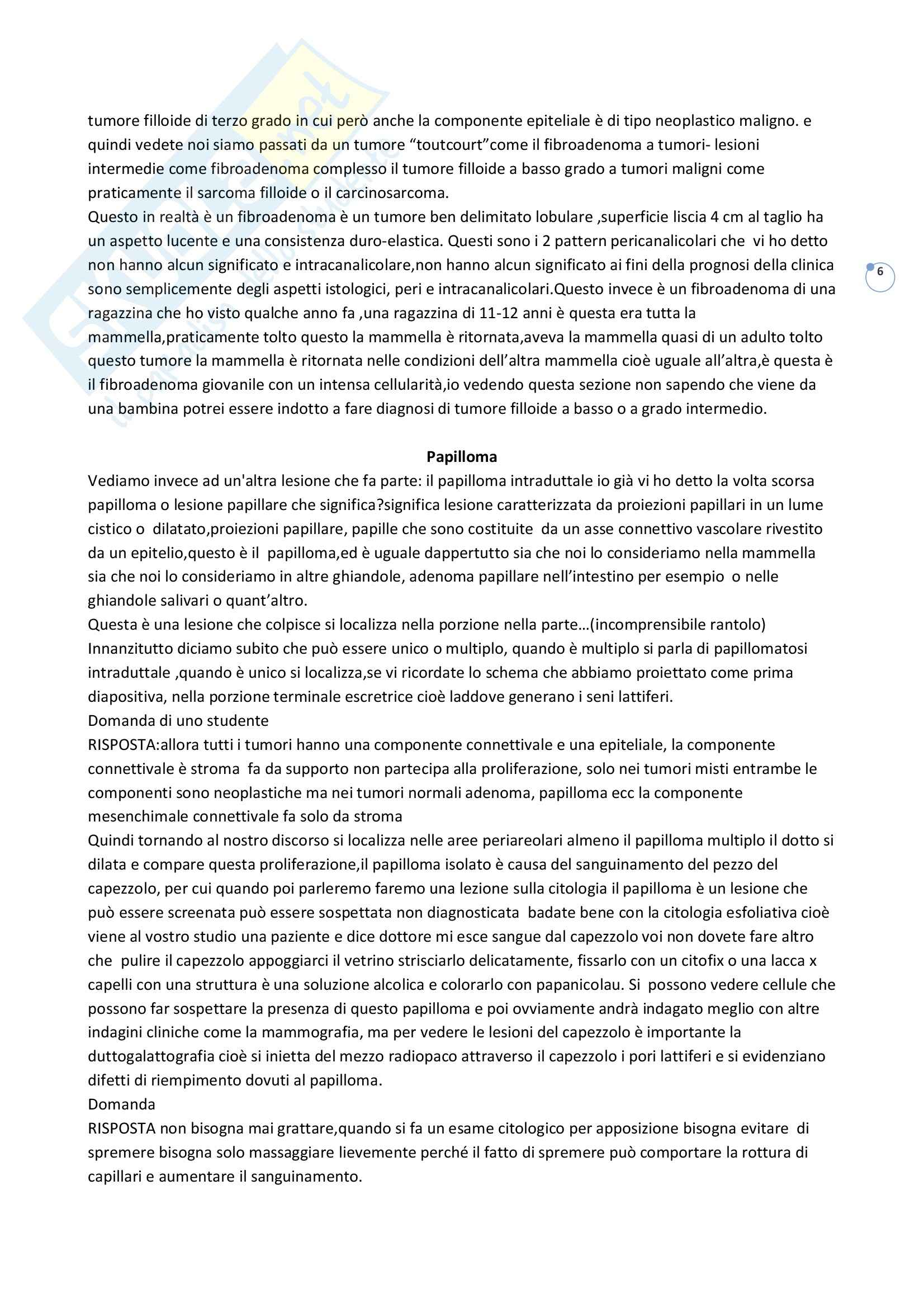 Anatomia patologica - lesioni proliferative Pag. 6