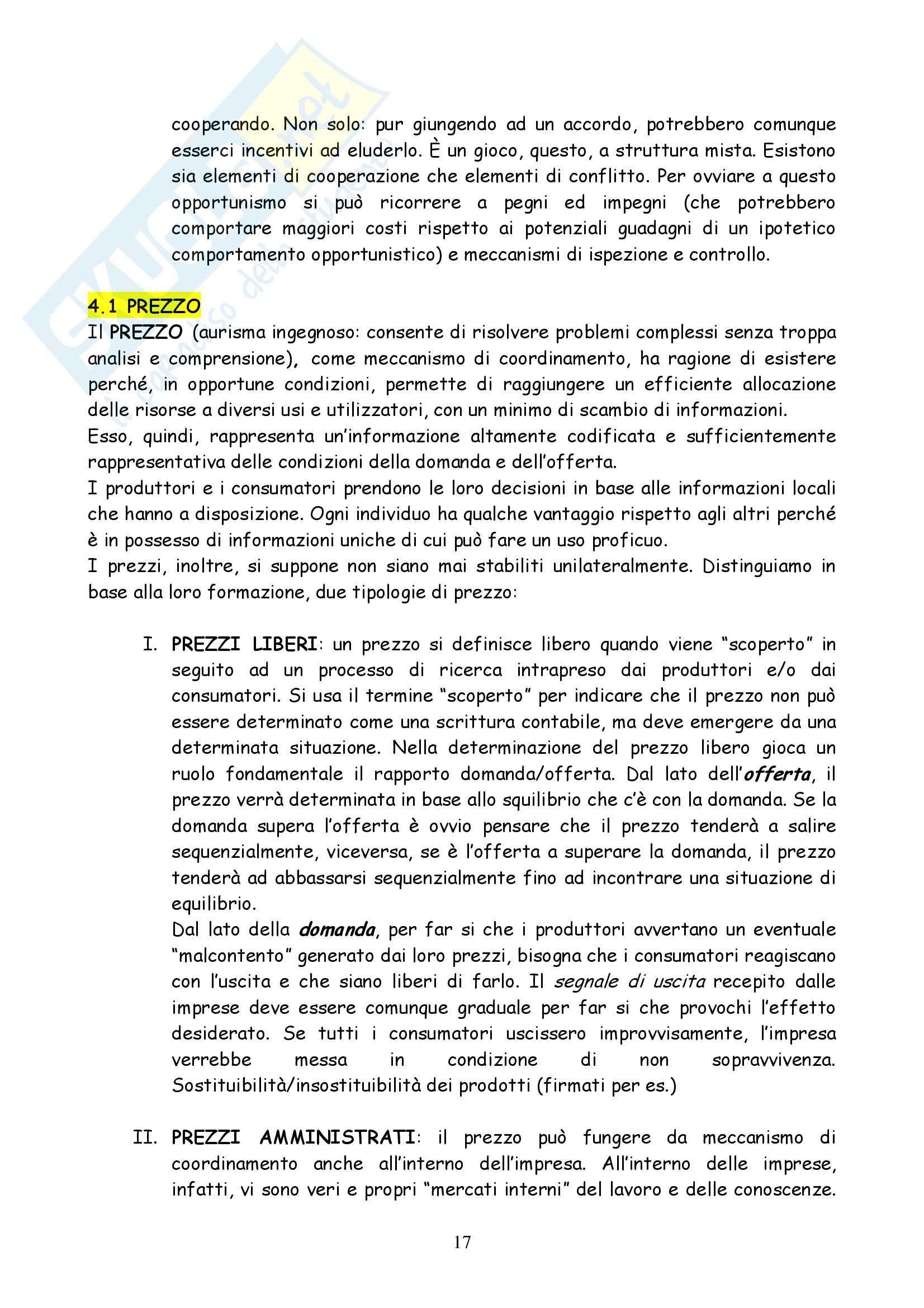 Riassunto esame Organizzazione Aziendale, prof. Briganti, libro consigliato L'Organizzazione delle Attività Economiche, Grandori Pag. 16