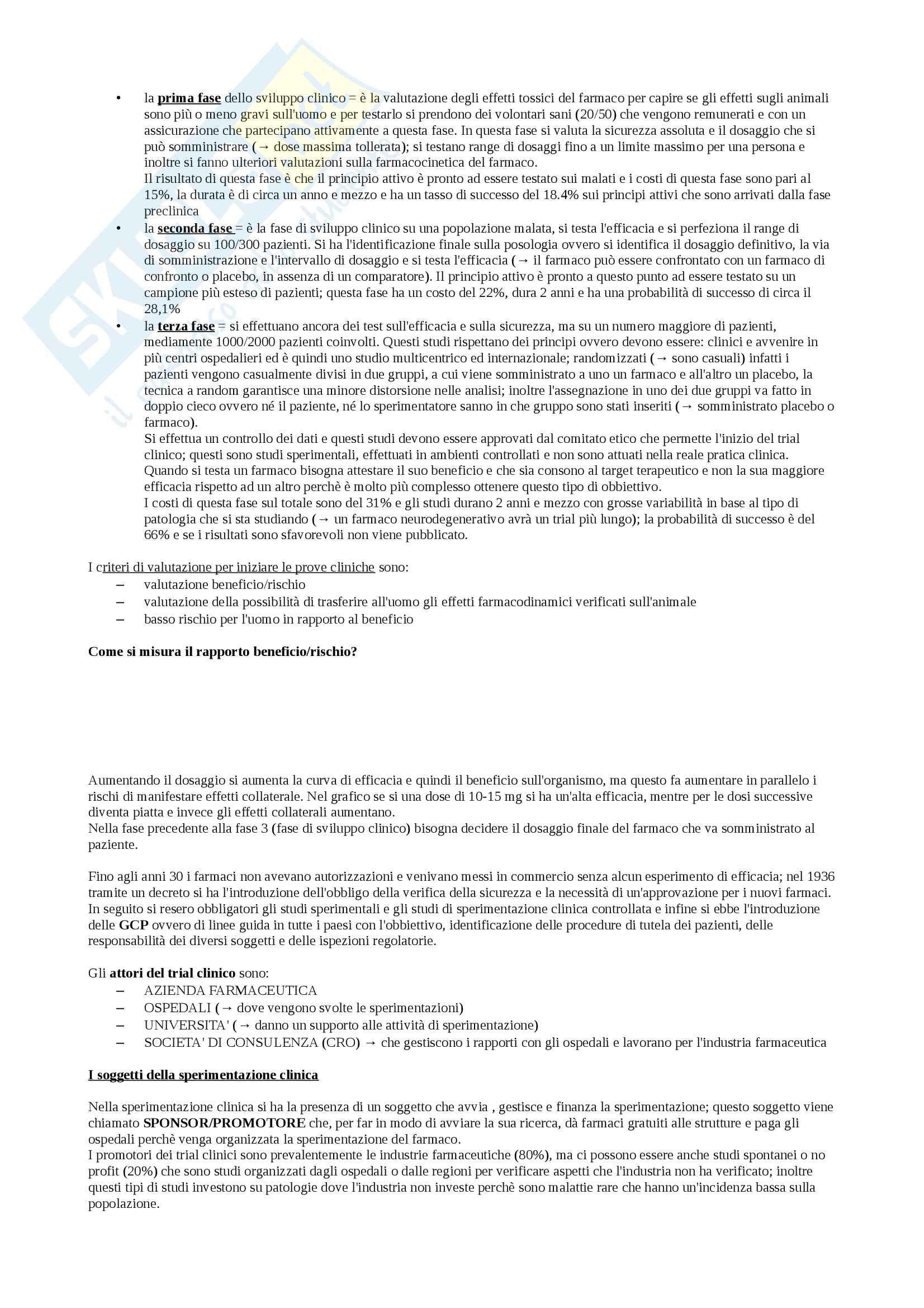 Organizzazione dell'azienda farmacia e farmacoeconomia - Appunti Pag. 6
