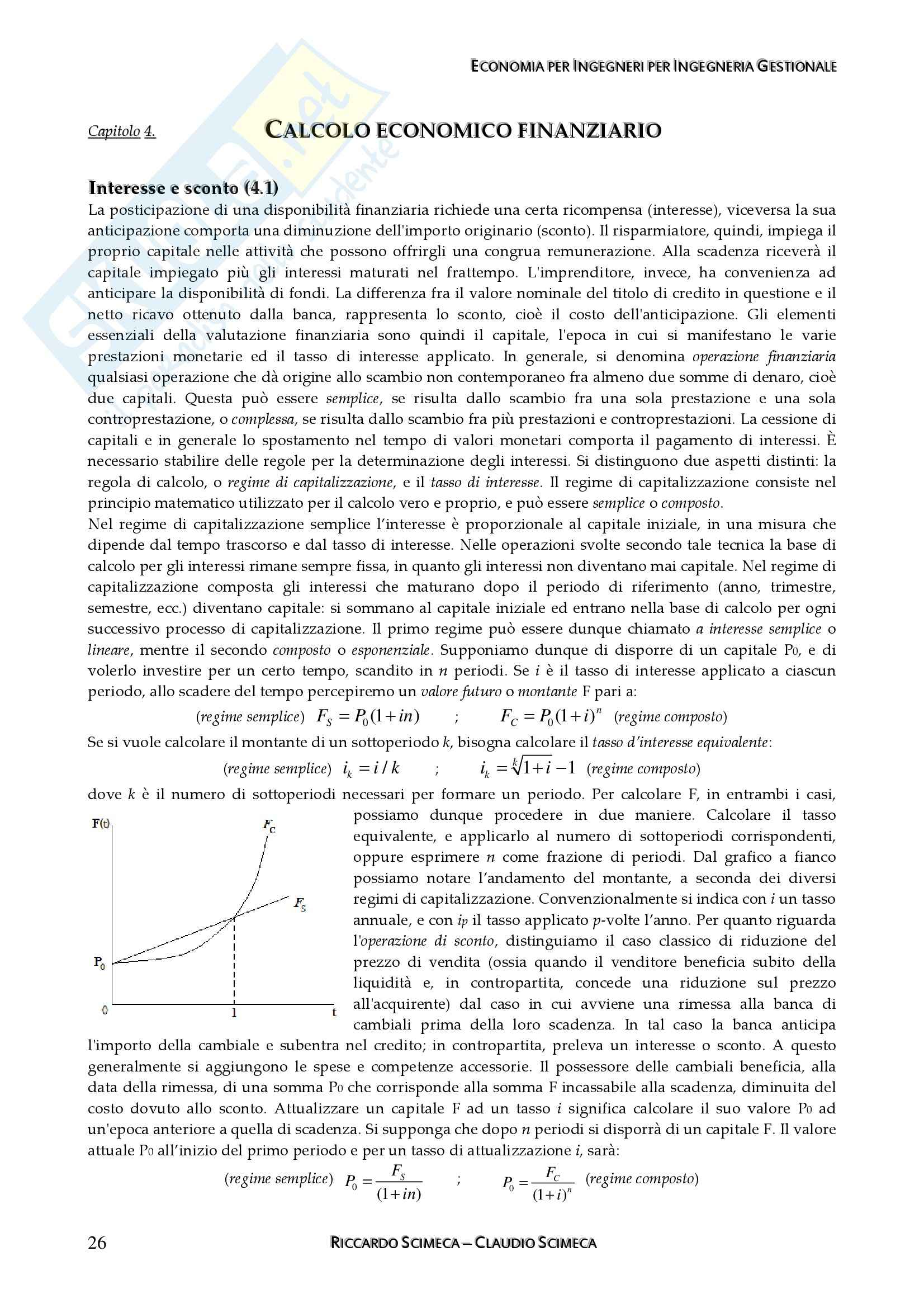 Economia applicata all'ingegneria - Appunti Pag. 26