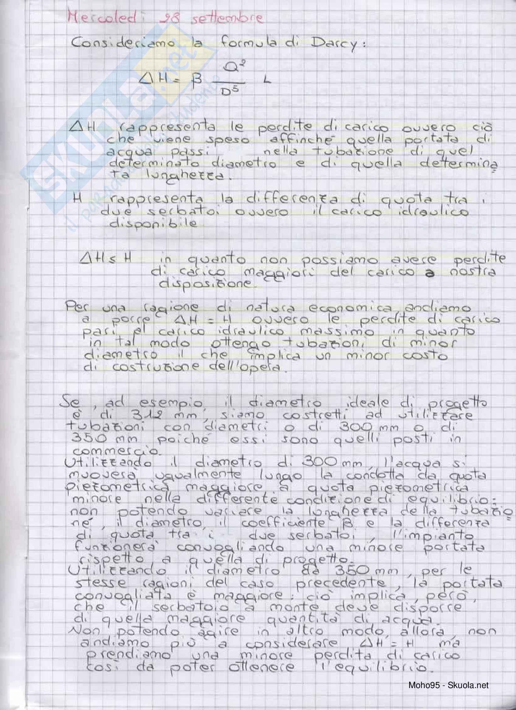 Costruzioni idrauliche - Teoria del corso