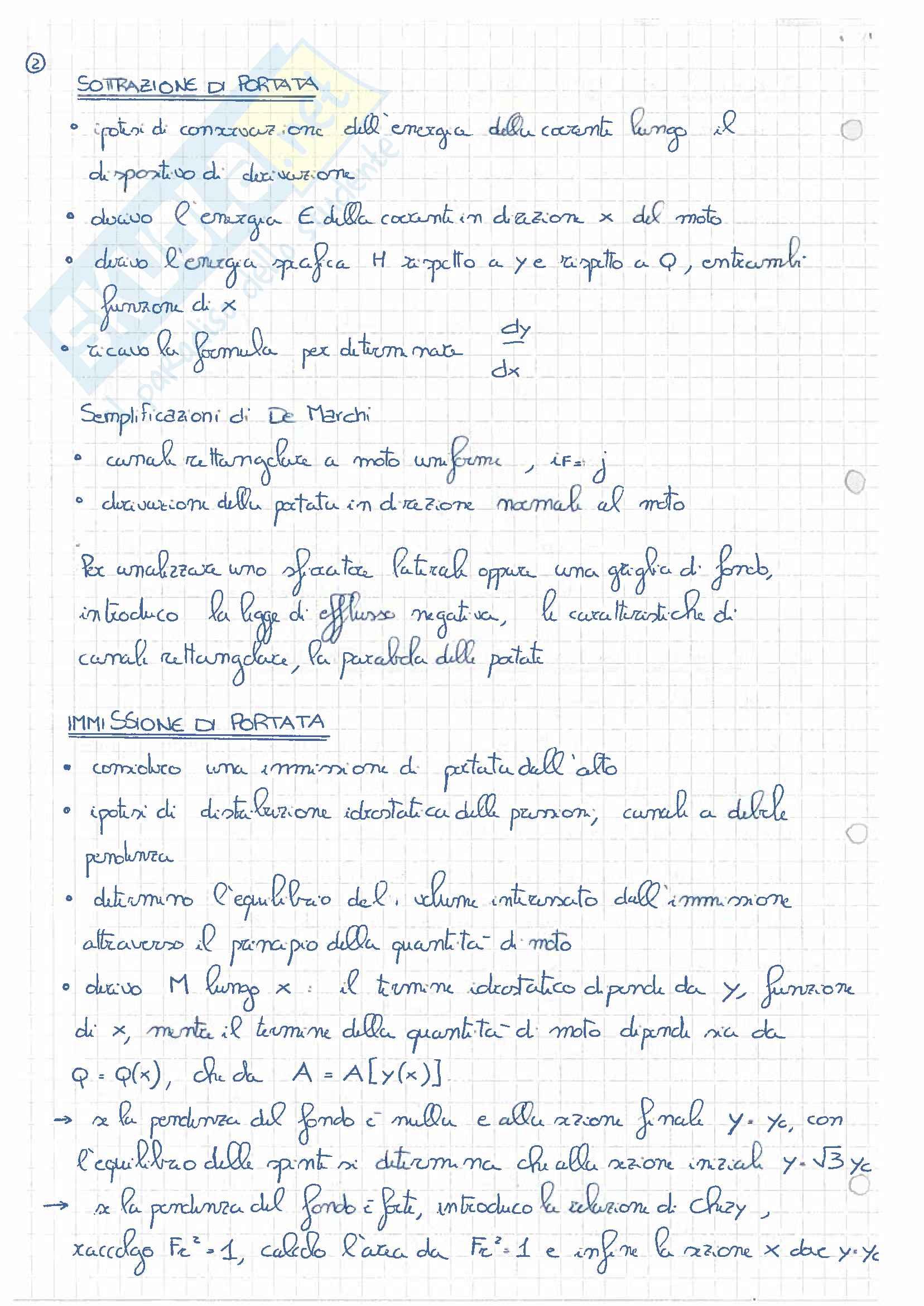 Appunti idrodinamica - elenco degli argomenti Pag. 2