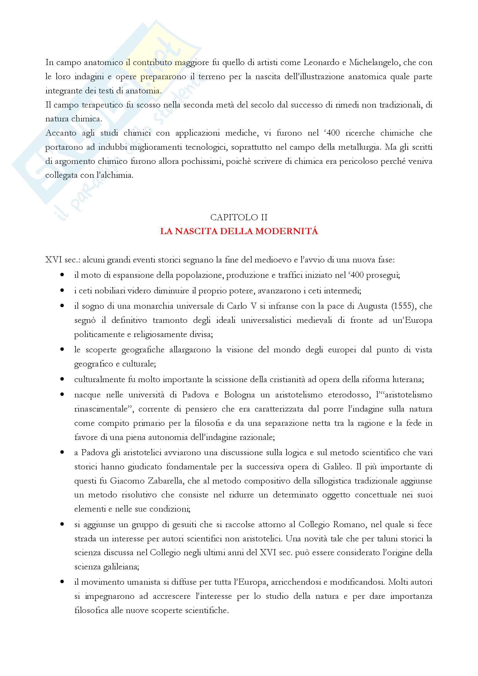 """Riassunto esame storia della scienza, Prof. Ciancio, libro consigliato """"Storia della scienza in Occidente"""" (R. Maiocchi) Pag. 11"""