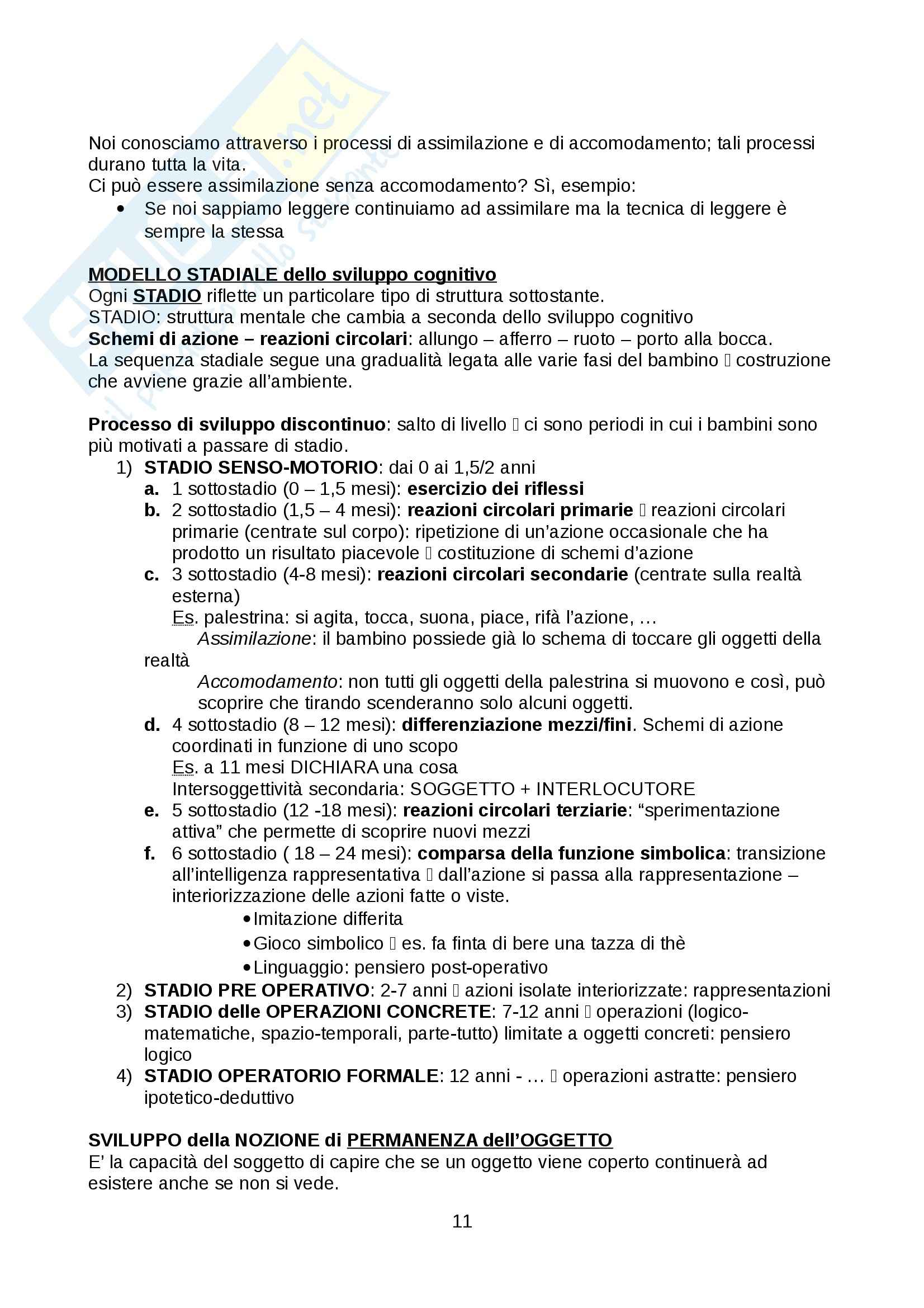 Psicologia dello sviluppo - Appunti Pag. 11