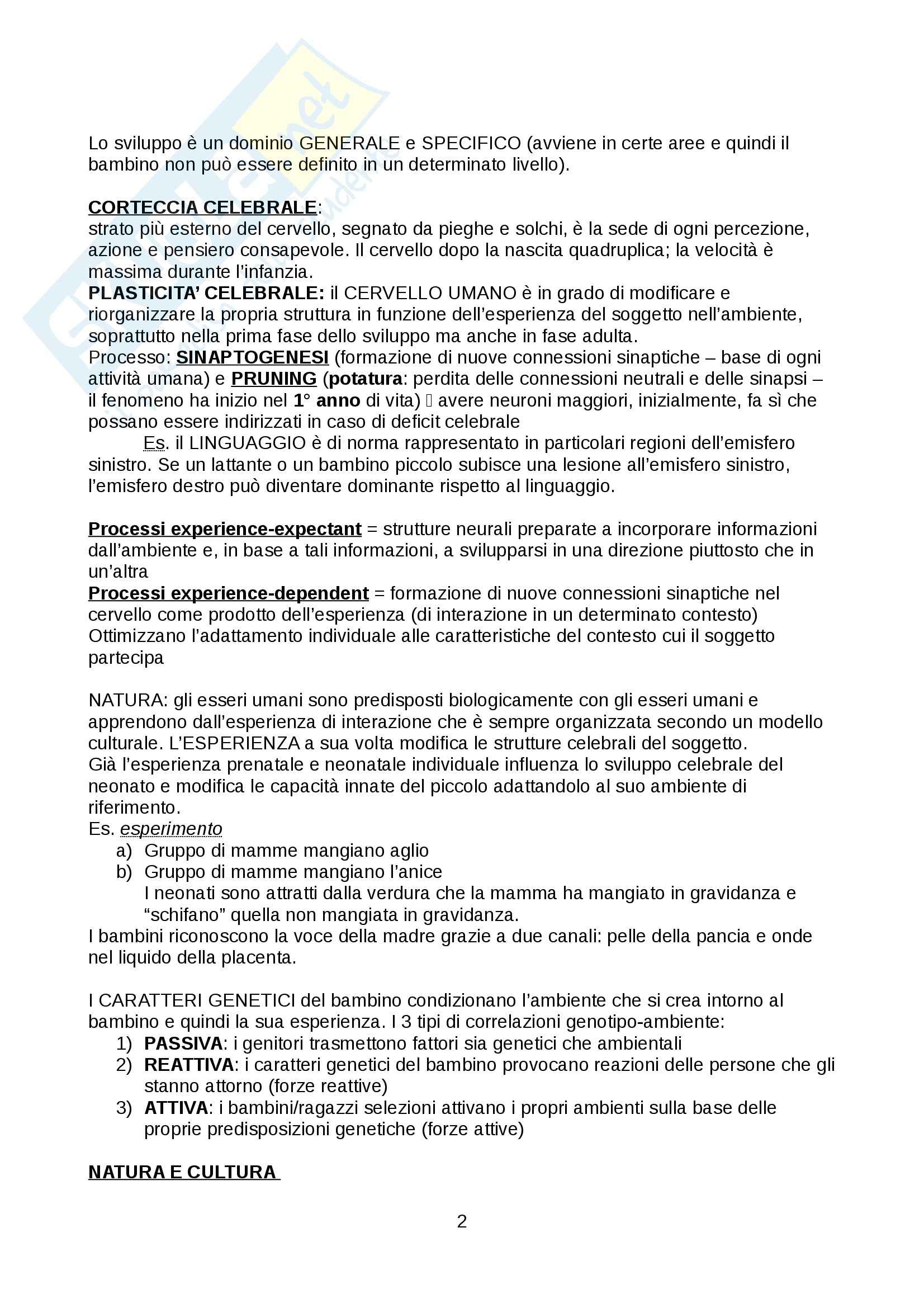 Psicologia dello sviluppo - Appunti Pag. 2