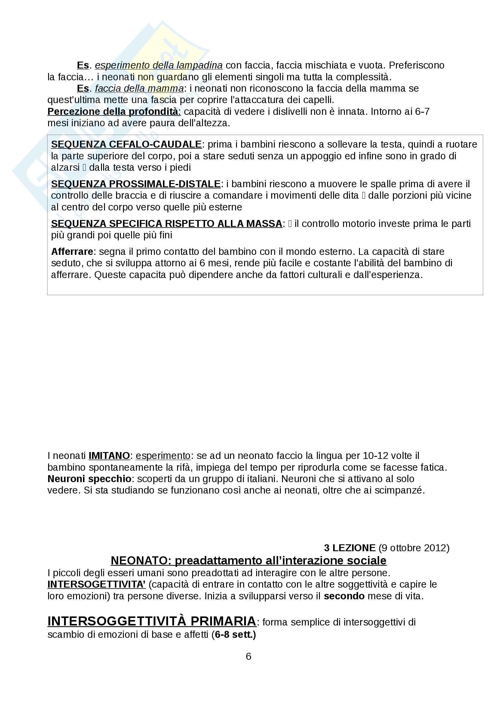 Psicologia dello sviluppo - Appunti Pag. 6
