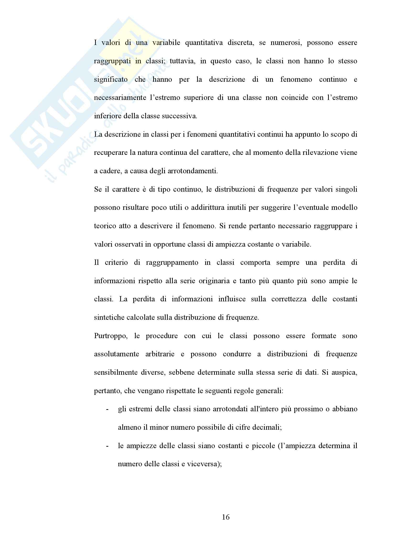 Statistica - Appunti Pag. 2