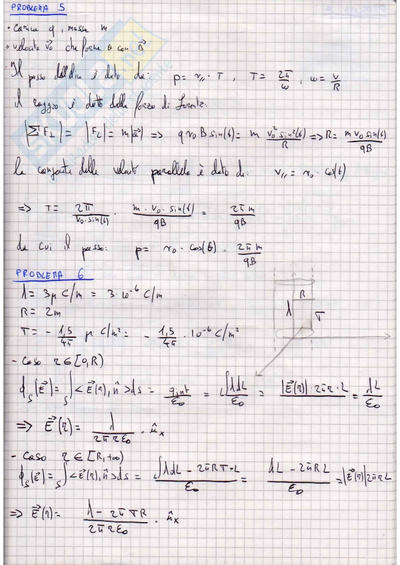 Raccolta completa esercizi d'esame svolti Fisica Generale 2 Pag. 11
