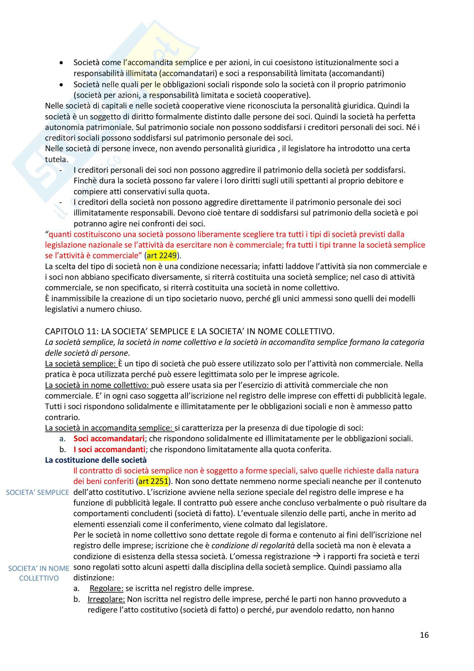 Riassunto esame diritto commerciale, docente Blandini, libro consigliato Campobasso Pag. 16