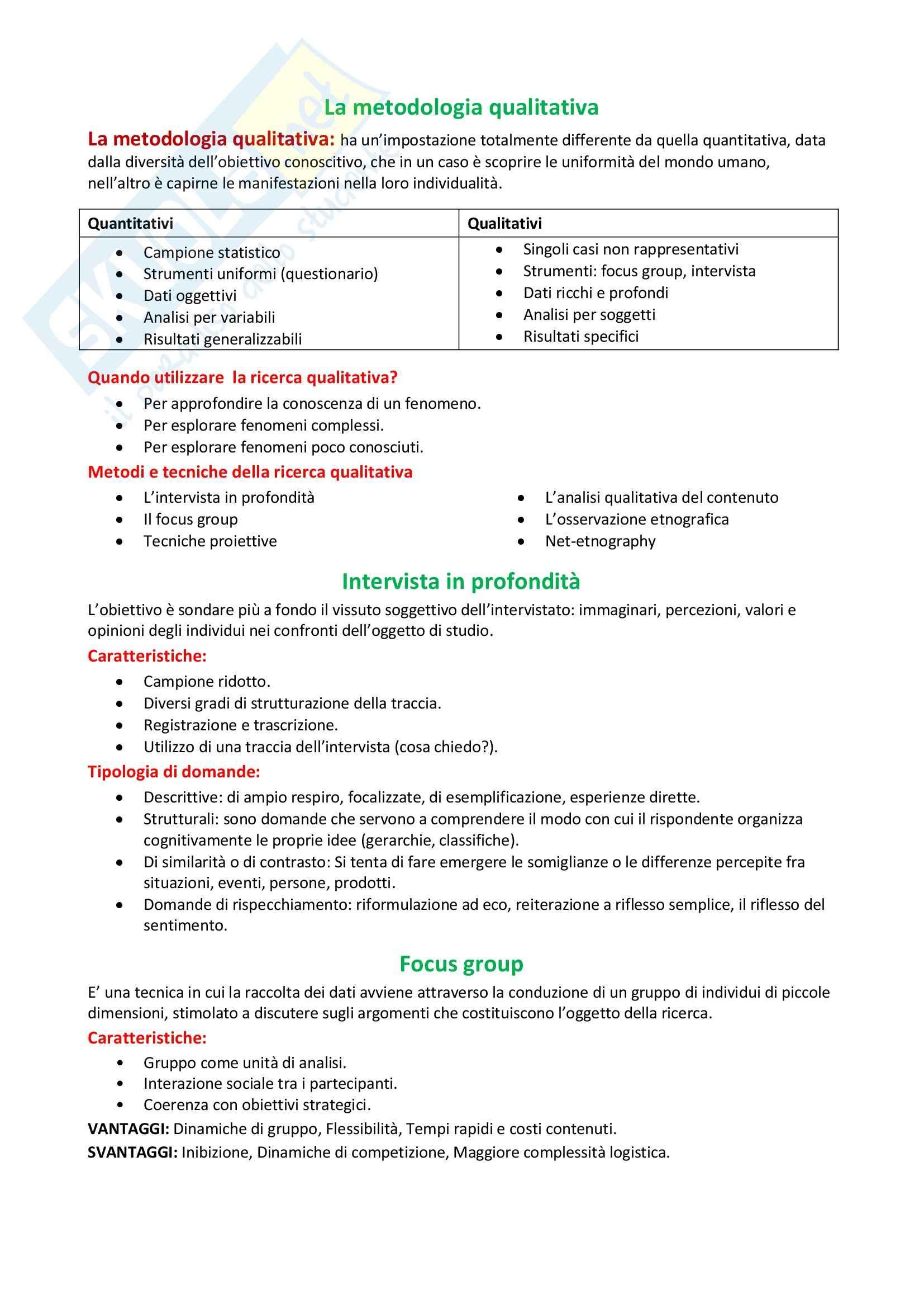 Metodologia qualitativa, Consumi e società