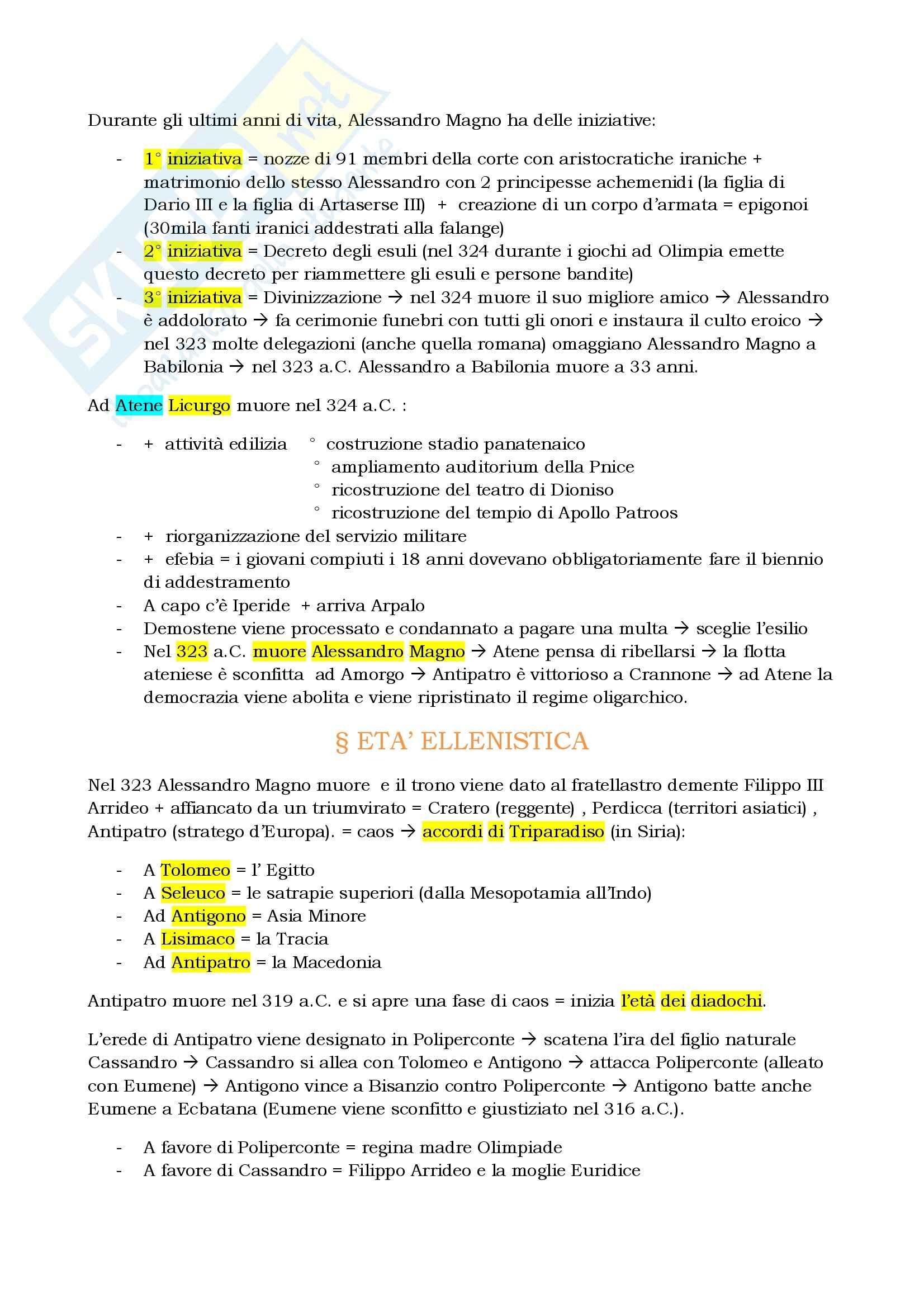 Riassunto esame Storia greca, prof. Berlinzani, libro consigliato Storia greca, Corsaro, Gallo Pag. 21