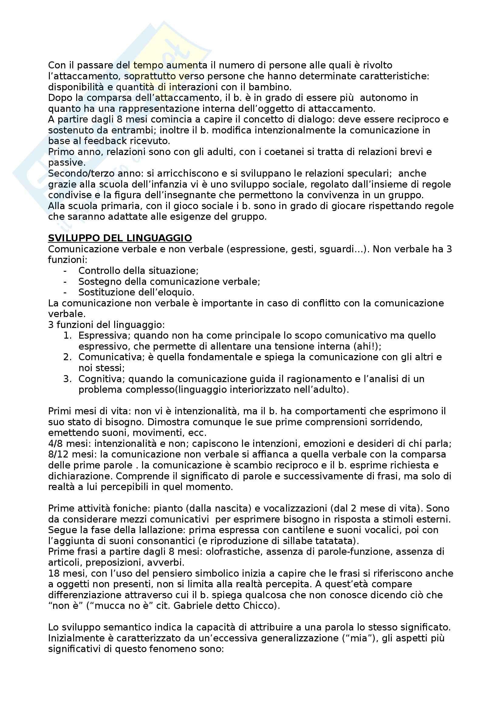 Riassunto esame Psicologia dello sviluppo, prof. Lucangeli, libro consigliato Psicologia dello sviluppo, Vianello Pag. 6