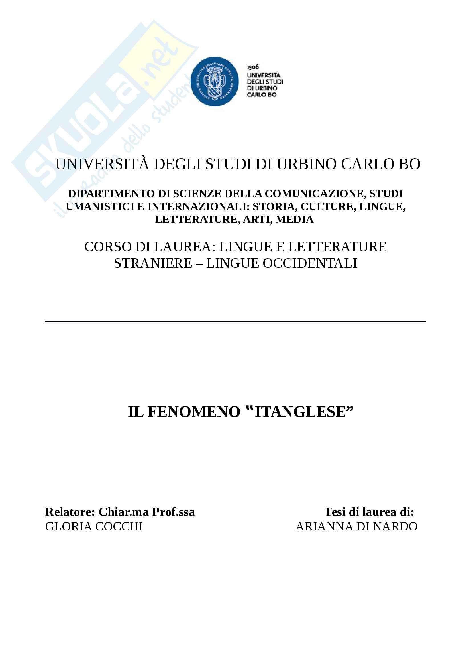 """Il fenomeno """"itanglese"""""""
