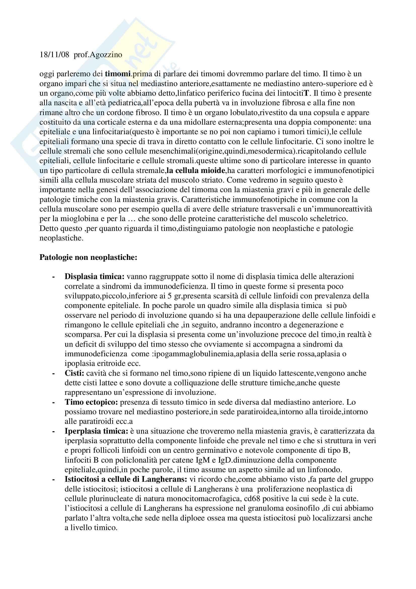 Anatomia patologica - timomi