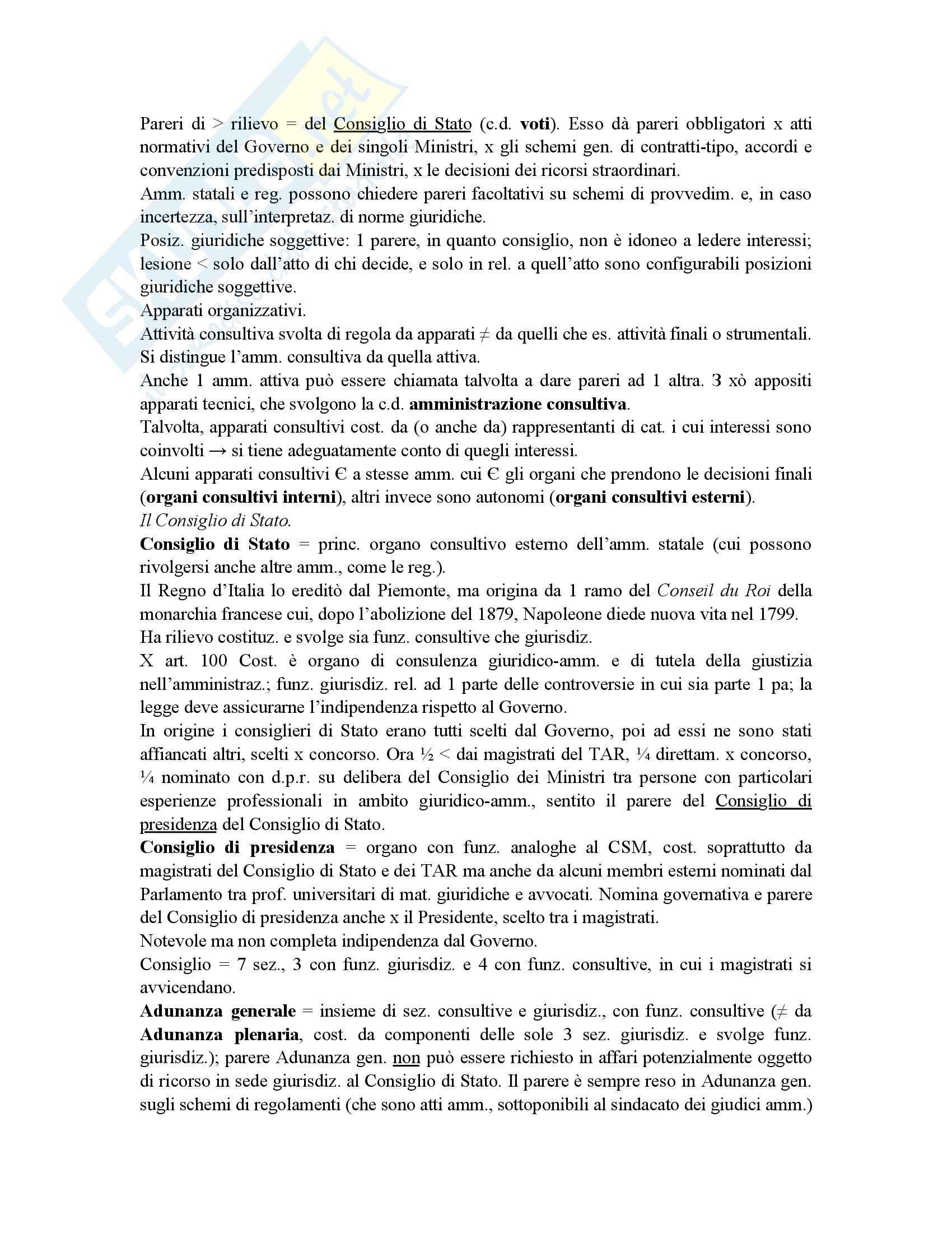 Riassunto esame diritto amministrativo, prof. Maccarrone, libro consigliato Diritto delle amministrazioni pubbliche, Sorace Pag. 46