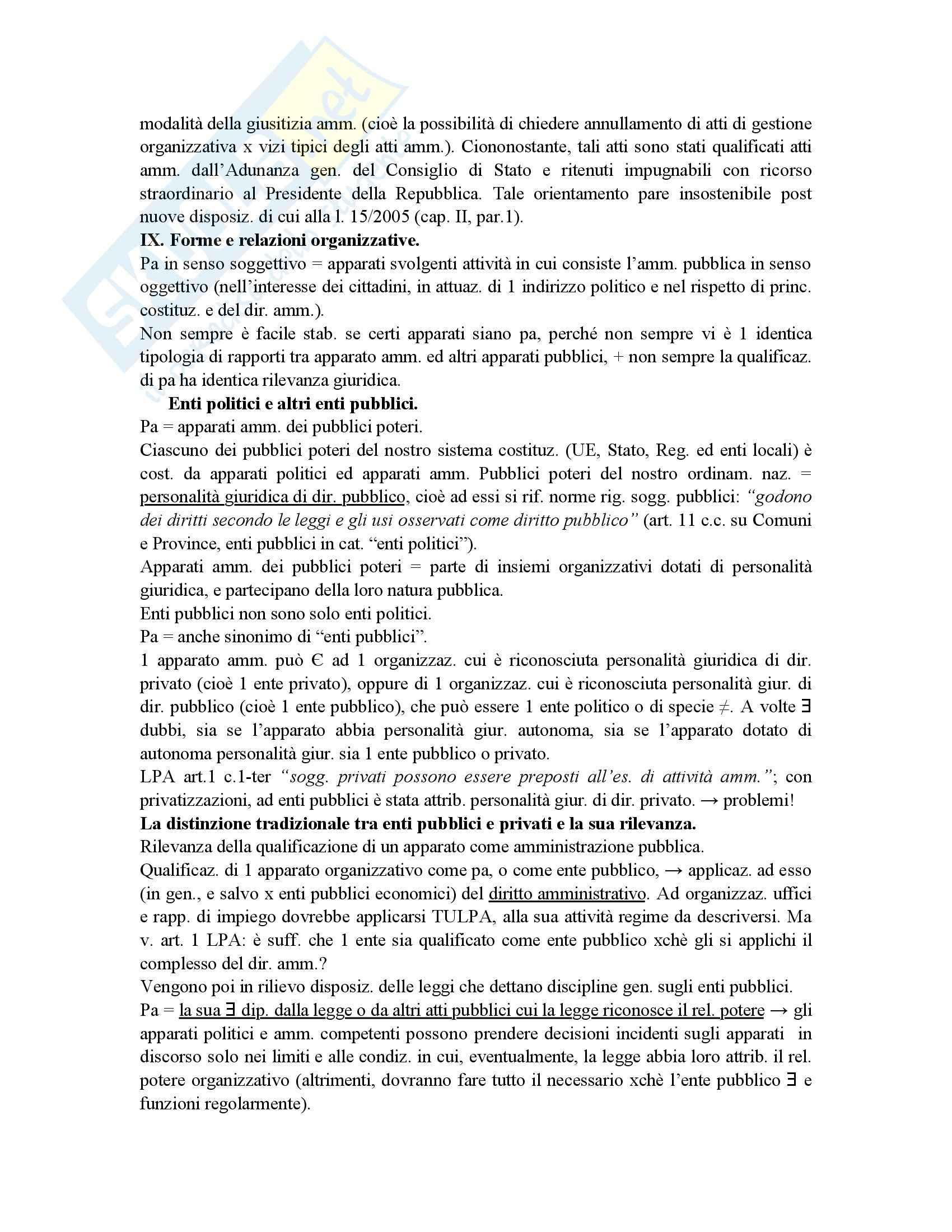 Riassunto esame diritto amministrativo, prof. Maccarrone, libro consigliato Diritto delle amministrazioni pubbliche, Sorace Pag. 61