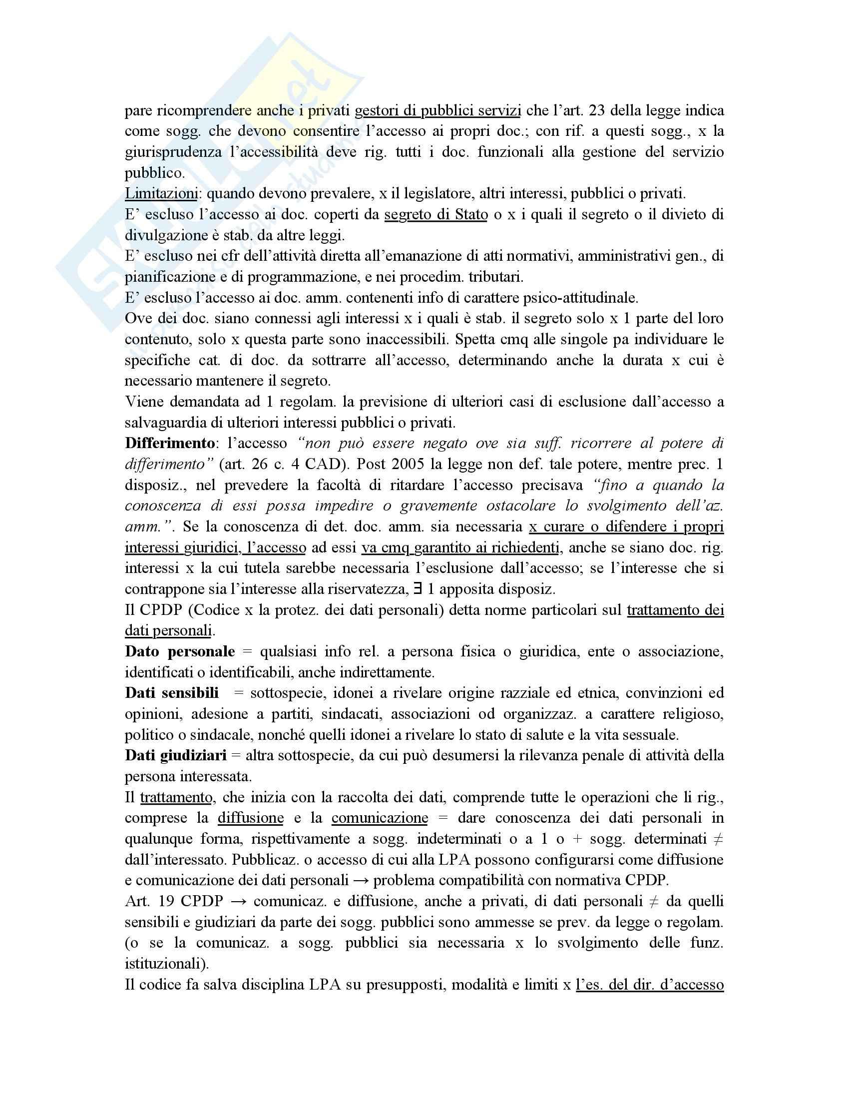 Riassunto esame diritto amministrativo, prof. Maccarrone, libro consigliato Diritto delle amministrazioni pubbliche, Sorace Pag. 81